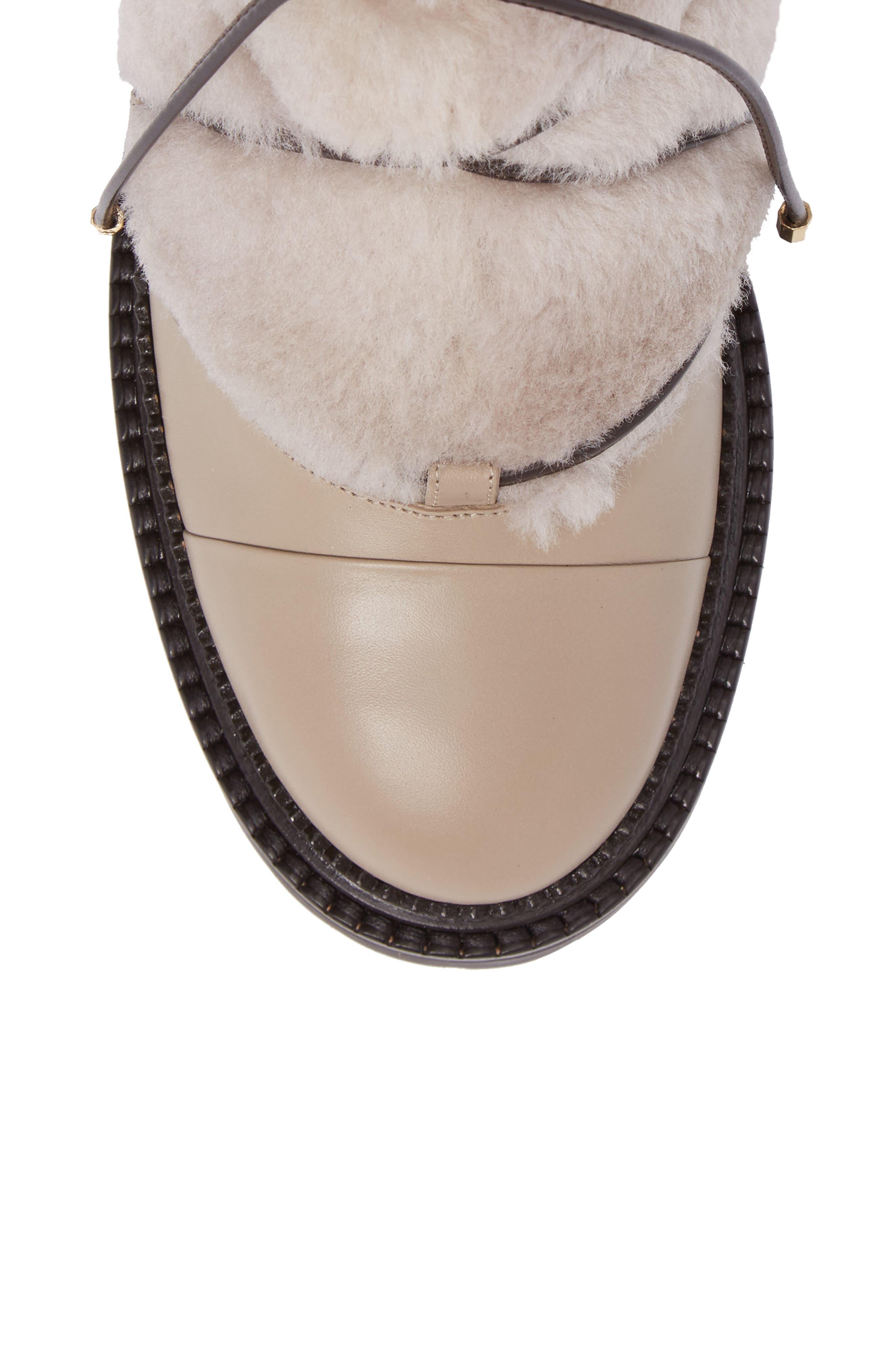 Darcie Genuine Shearling Boot,                             Alternate thumbnail 5, color,                             Chai
