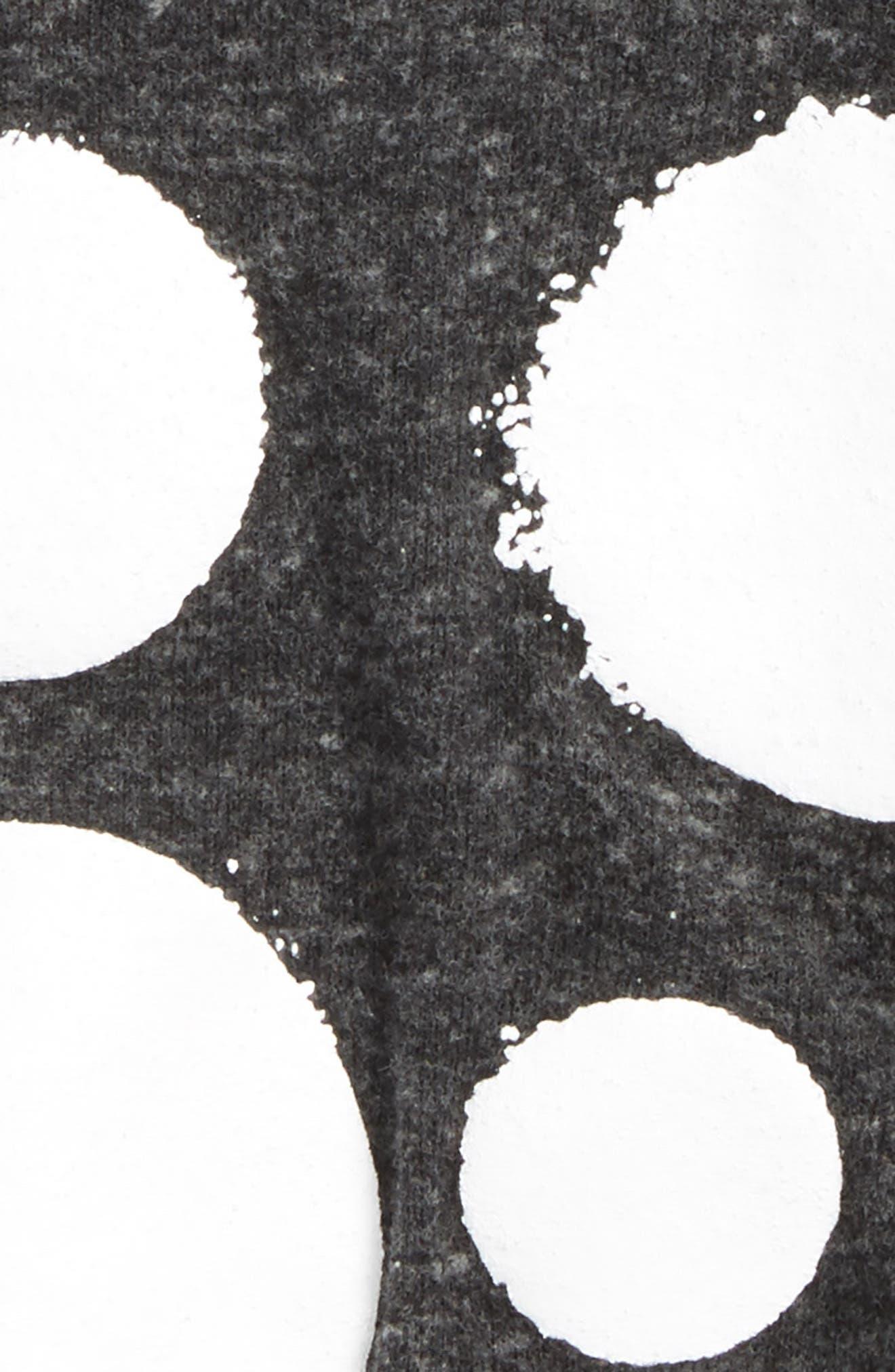 Print Sweater Dress,                             Alternate thumbnail 2, color,                             Charcoal