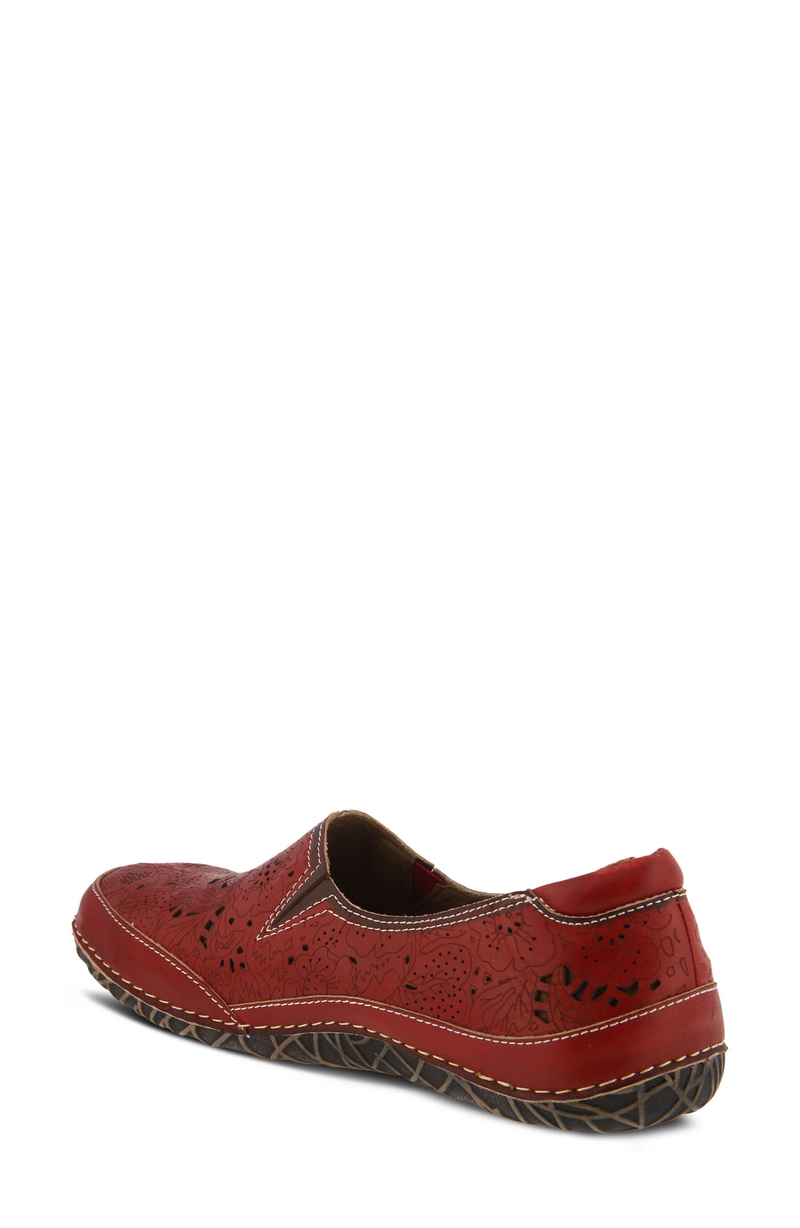 L'Artiste Libora Slip-On Flat,                             Alternate thumbnail 2, color,                             Red Leather