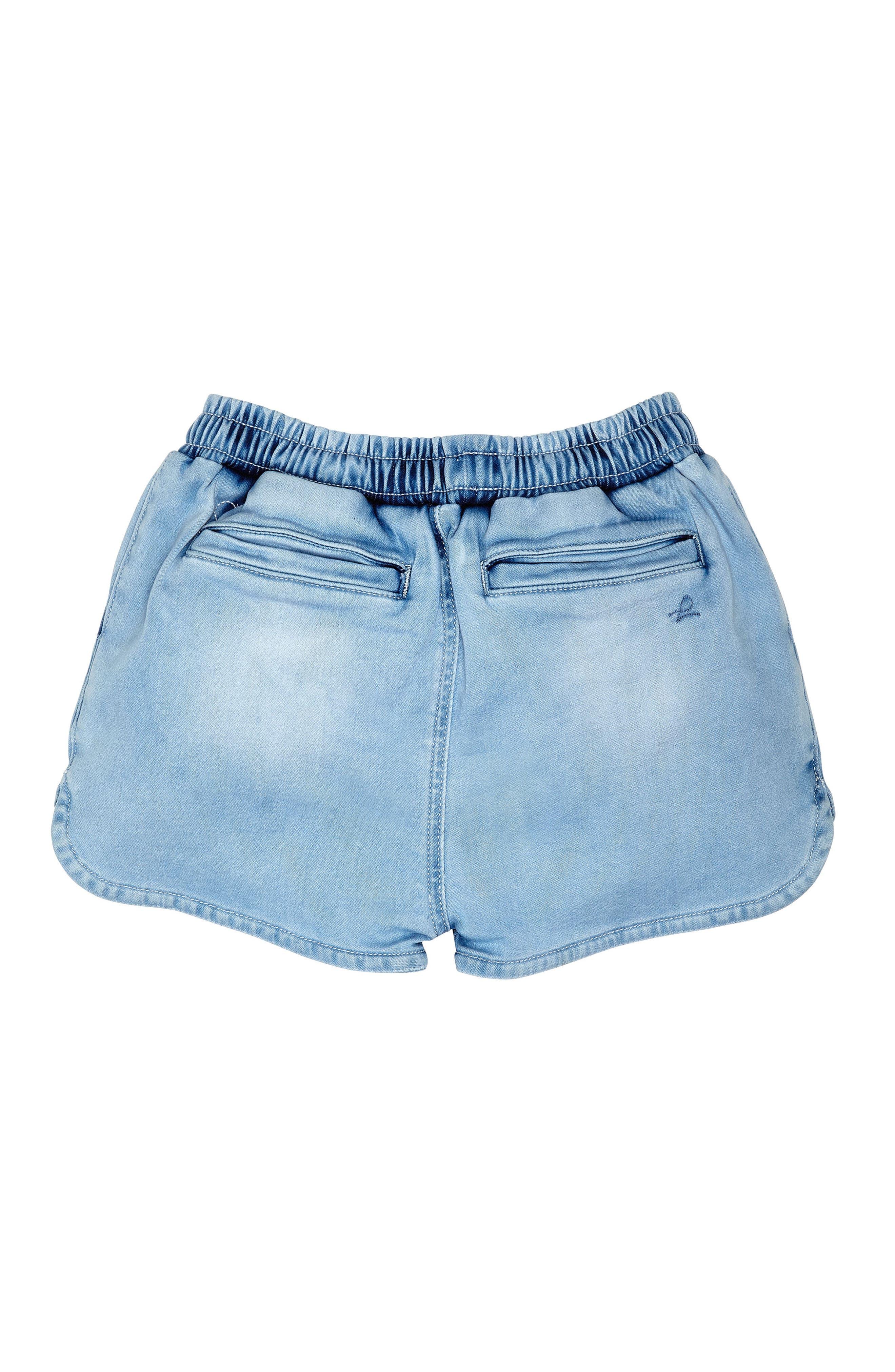 Alternate Image 2  - DL1961 Denim Sport Shorts (Toddler Girls & Little Girls)