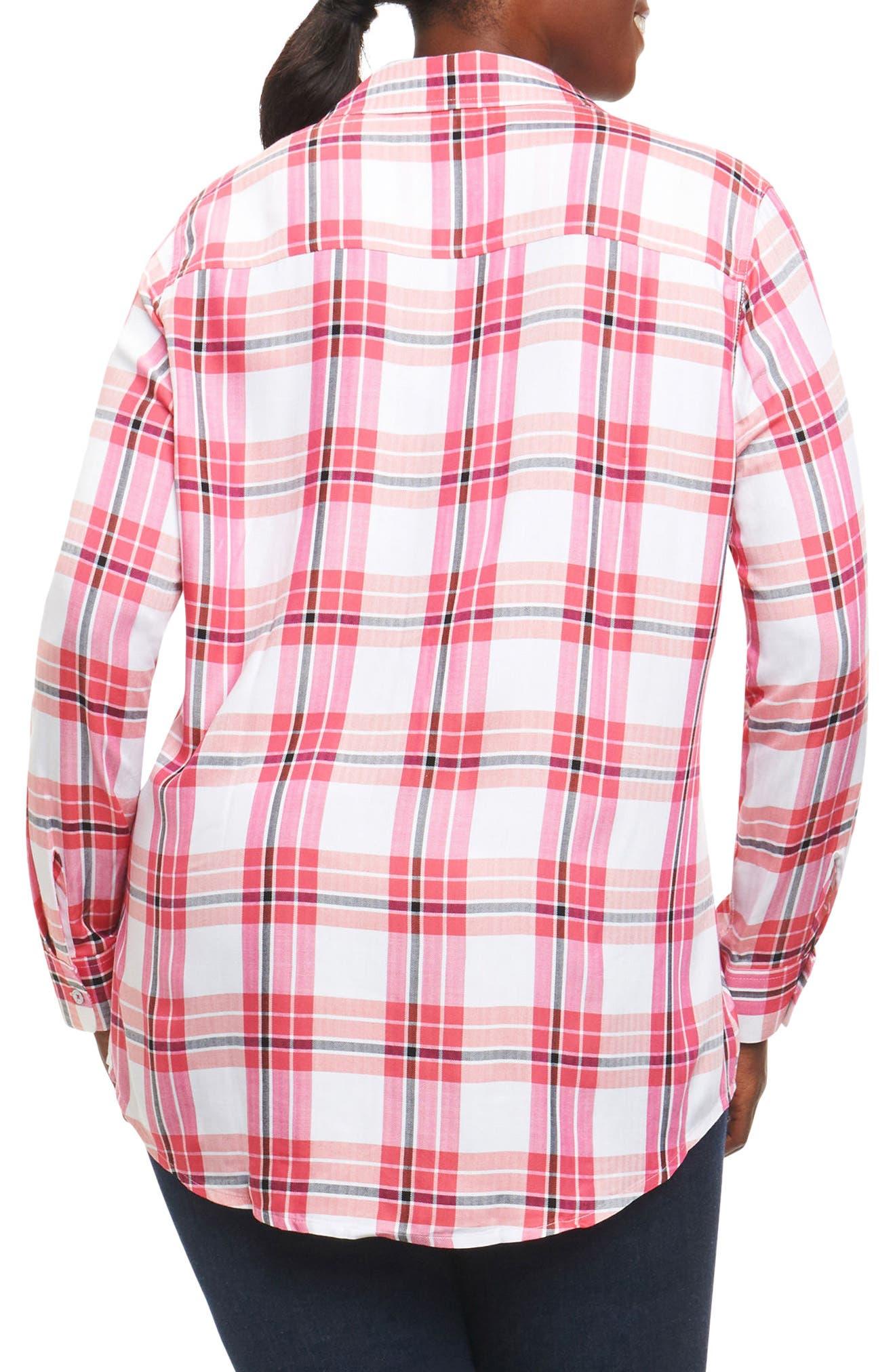 Alternate Image 2  - Foxcroft Fay Plaid Shirt (Plus Size)