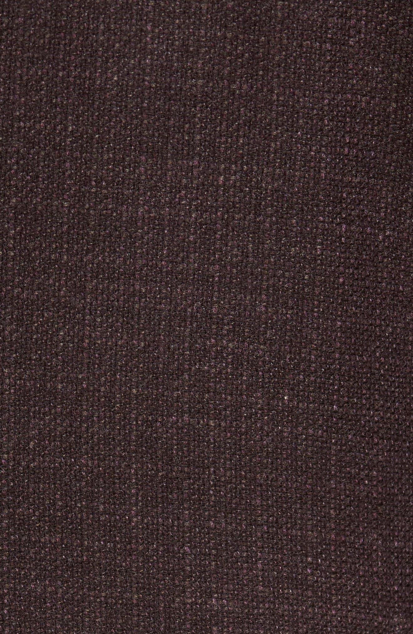 Trim Fit Wool & Cashmere Blazer,                             Alternate thumbnail 5, color,                             Wine