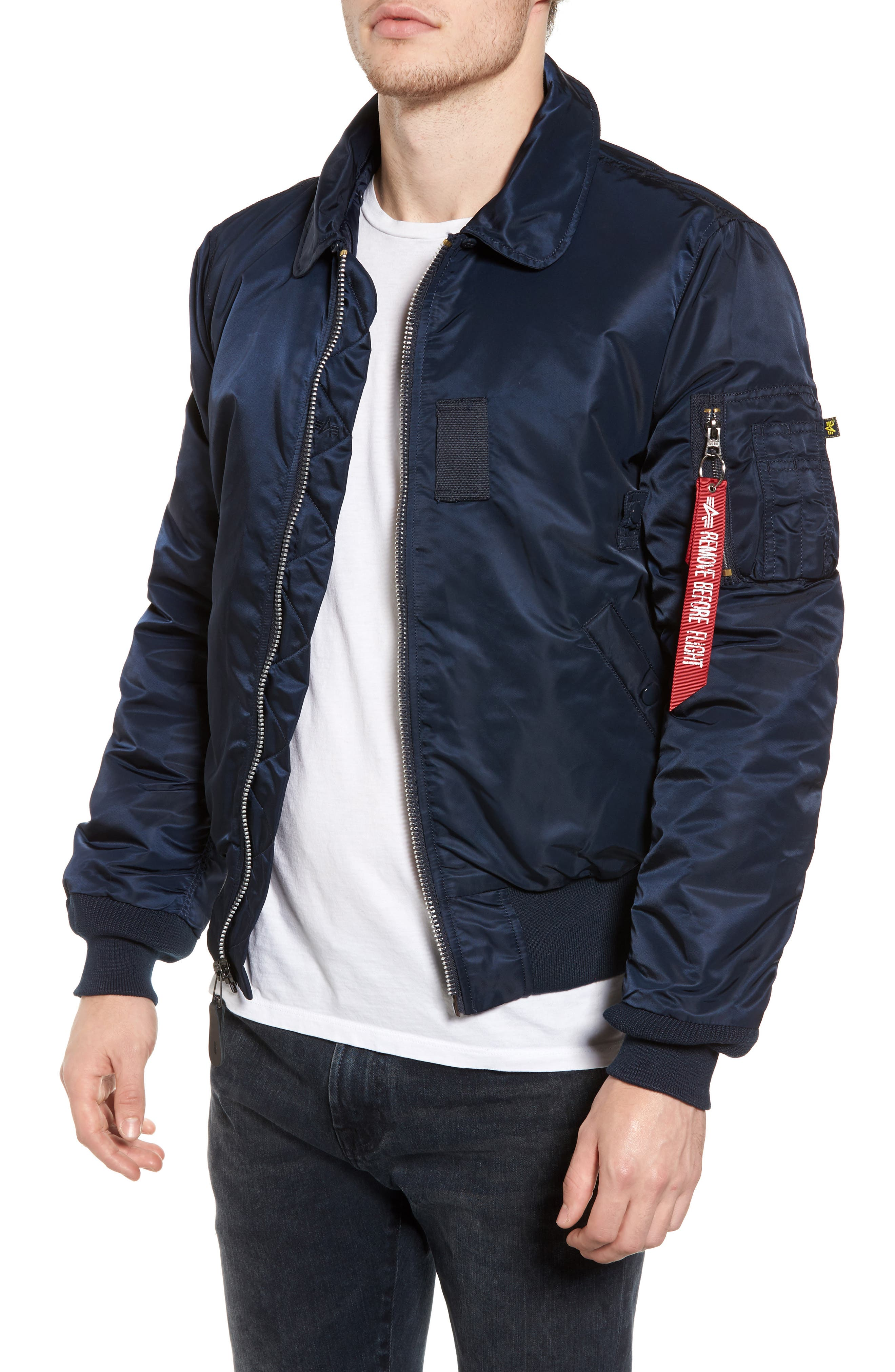 Alternate Image 4  - Alpha Industries B-15 Removable Faux Fur Collar Flight Jacket
