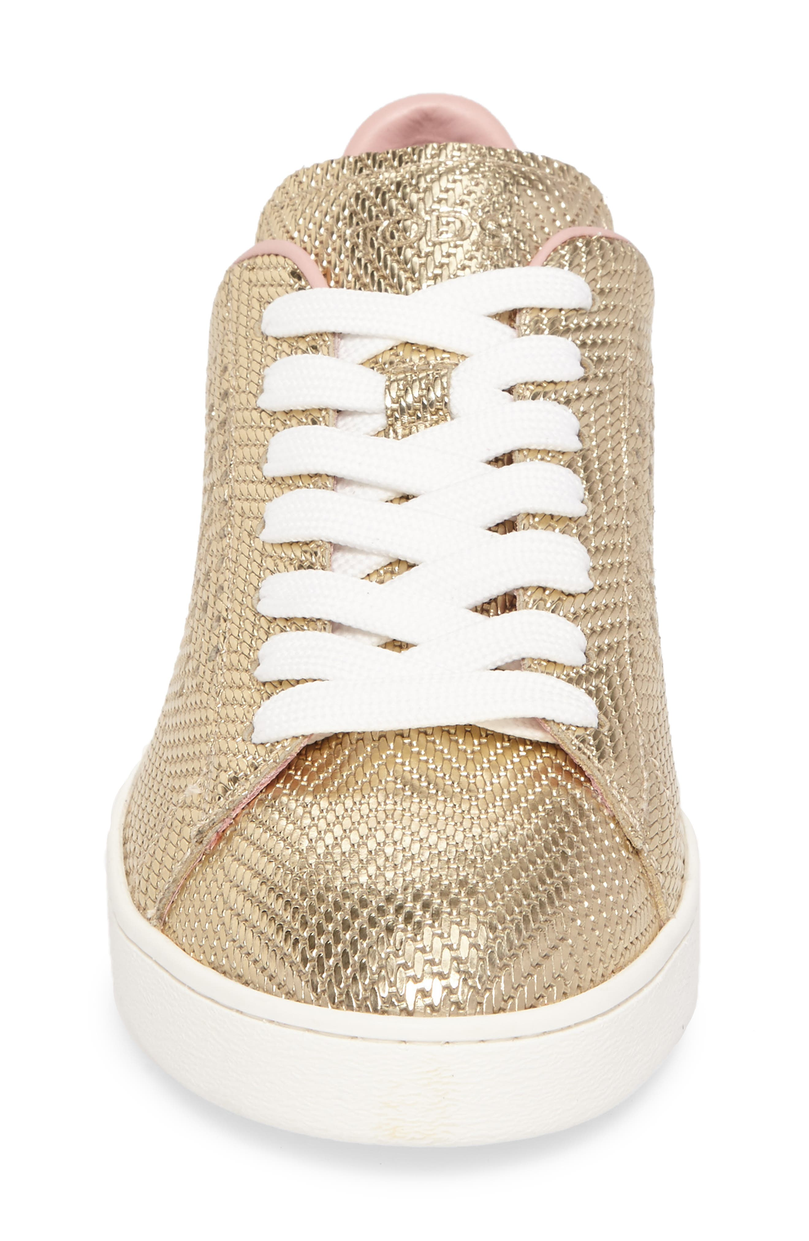 Perforated T Sneaker,                             Alternate thumbnail 4, color,                             Rose Gold