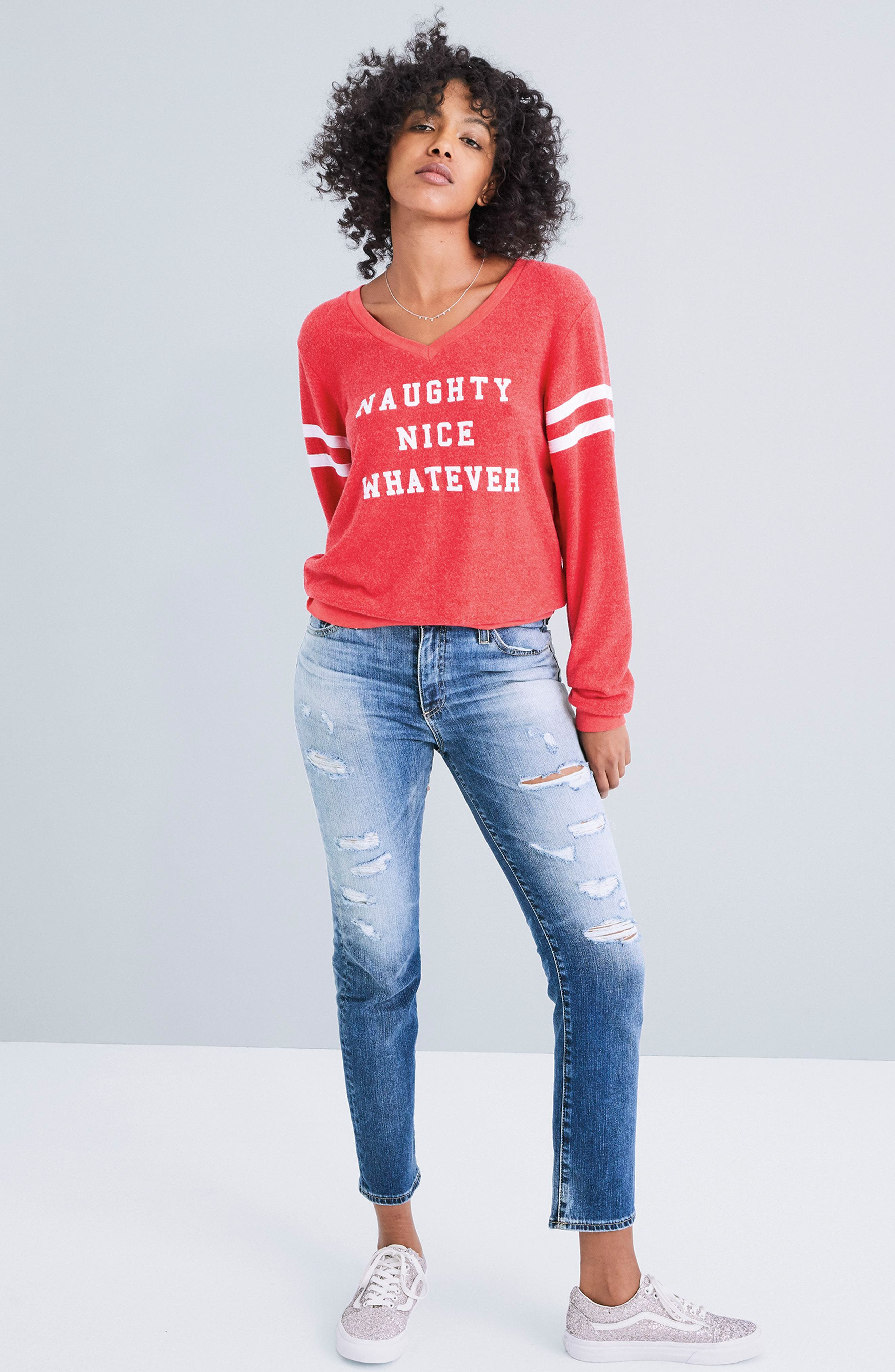Naughty Nice Whatever Sweatshirt,                             Alternate thumbnail 2, color,
