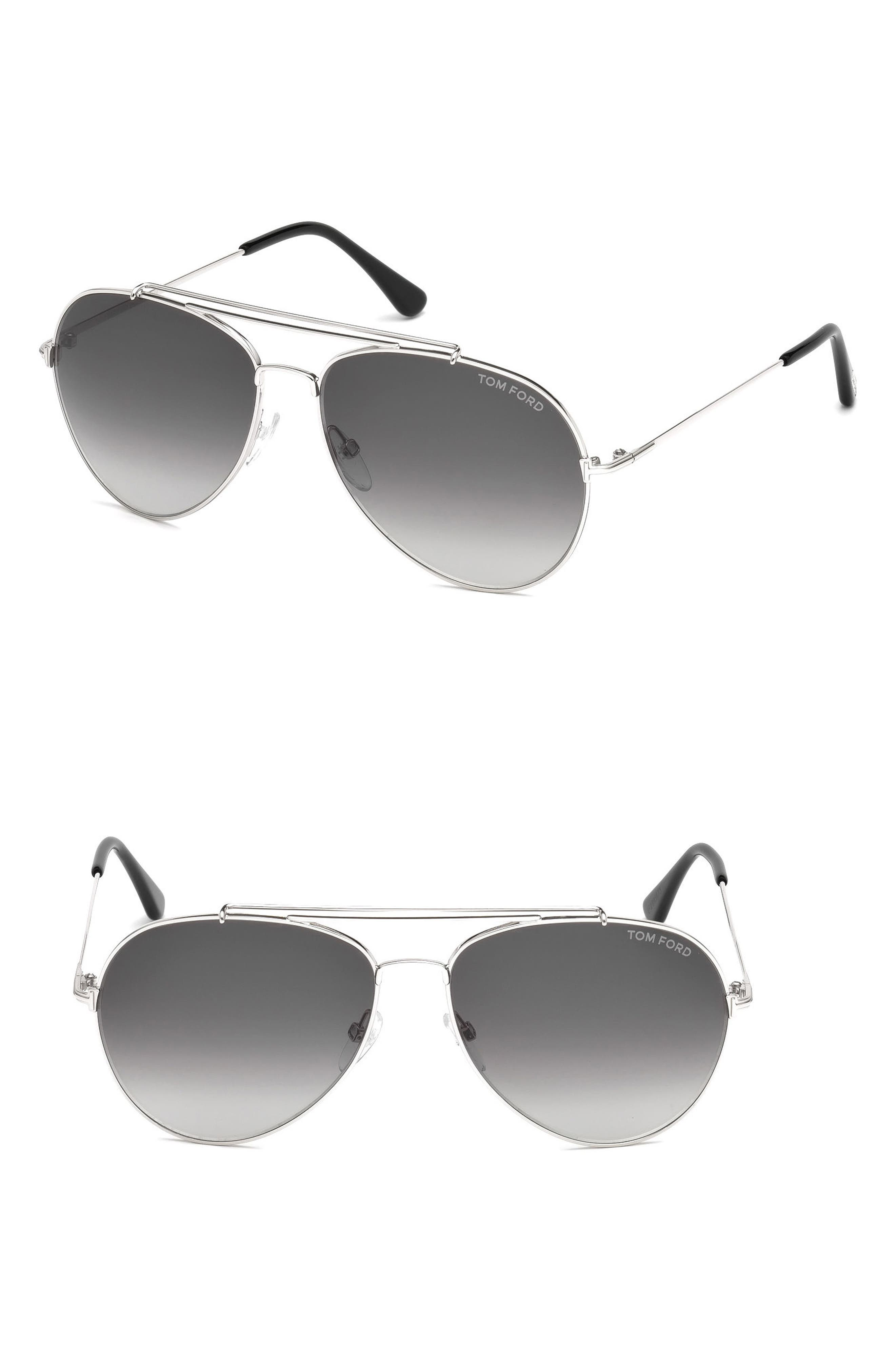 'Charles' 62mm Aviator Sunglasses,                             Main thumbnail 1, color,                             Palladium