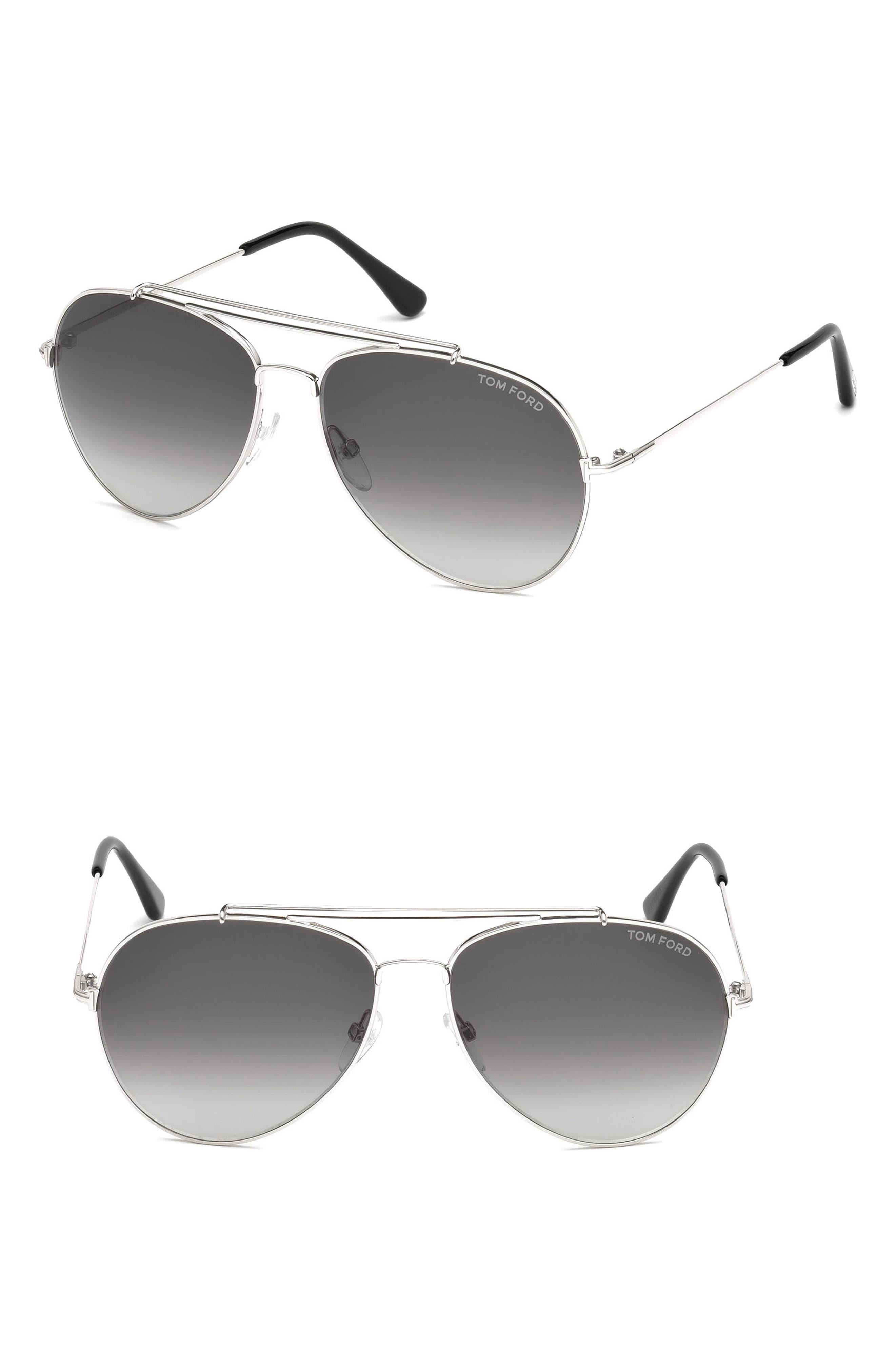 'Charles' 62mm Aviator Sunglasses,                         Main,                         color, Palladium
