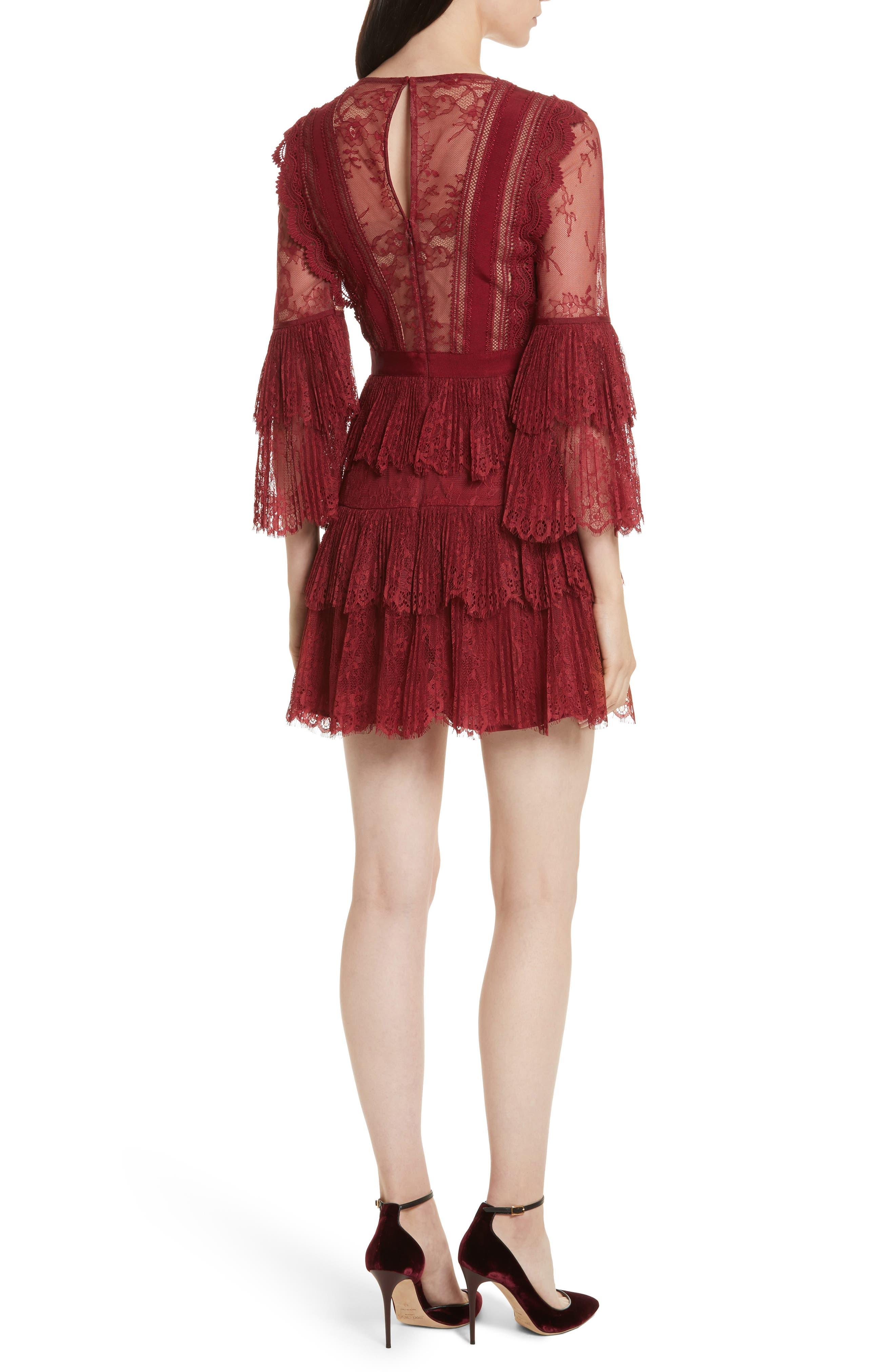 Alternate Image 2  - Self-Portrait Pleated Lace Dress