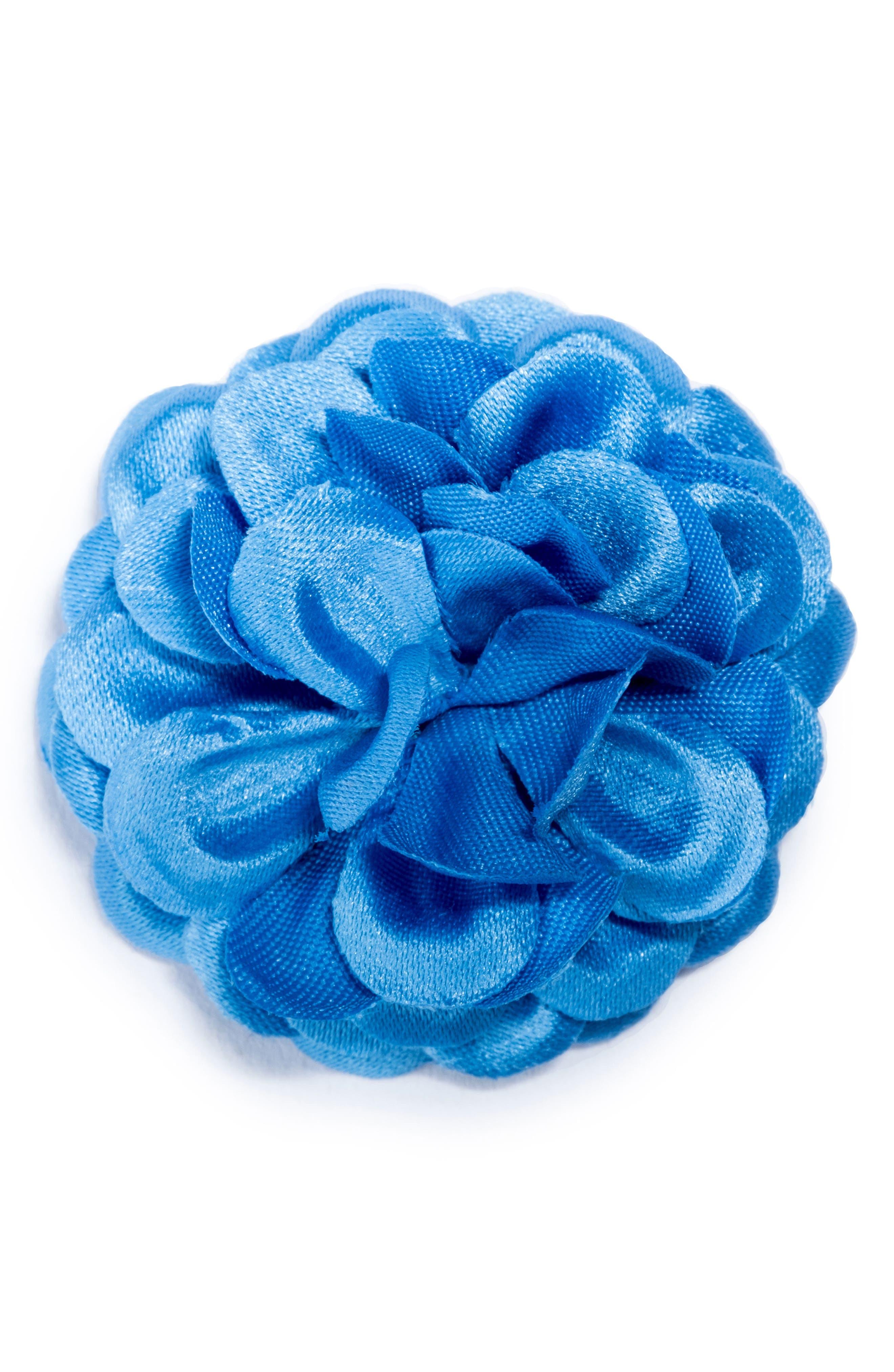 Large Lapel Flower,                         Main,                         color, Light Blue