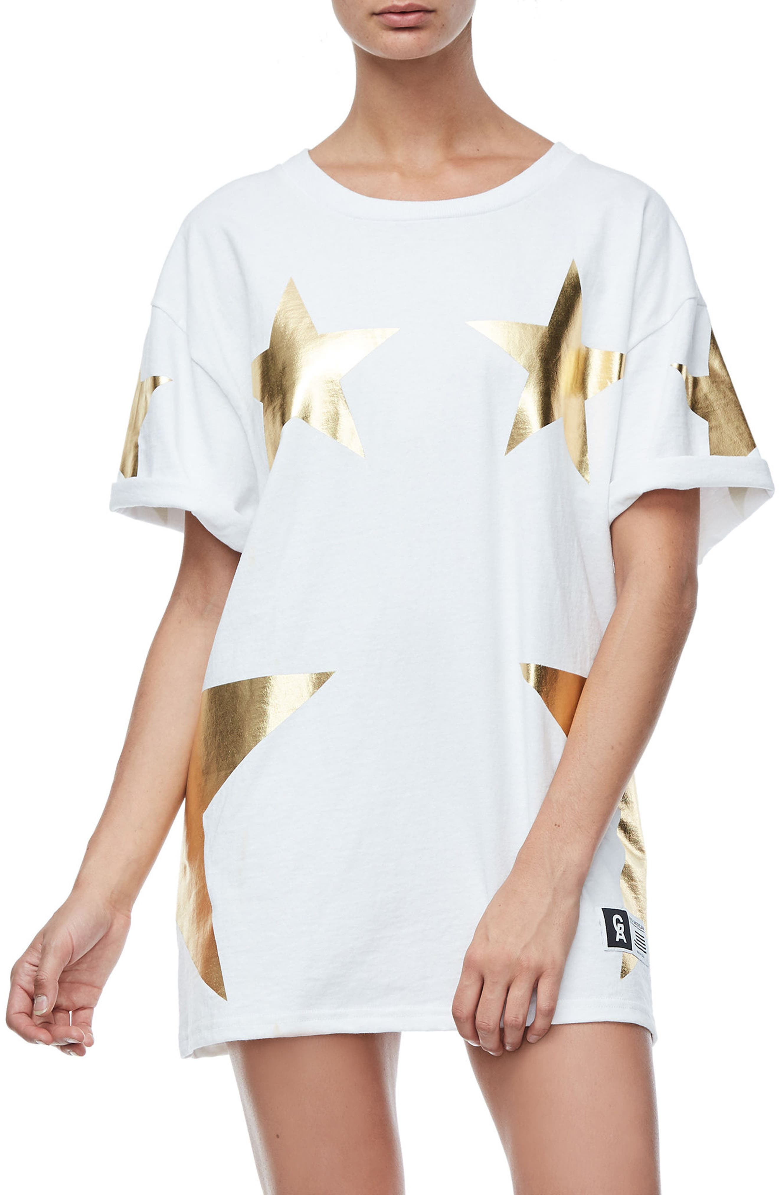 Goodies Super Star Tee,                         Main,                         color, Gold001