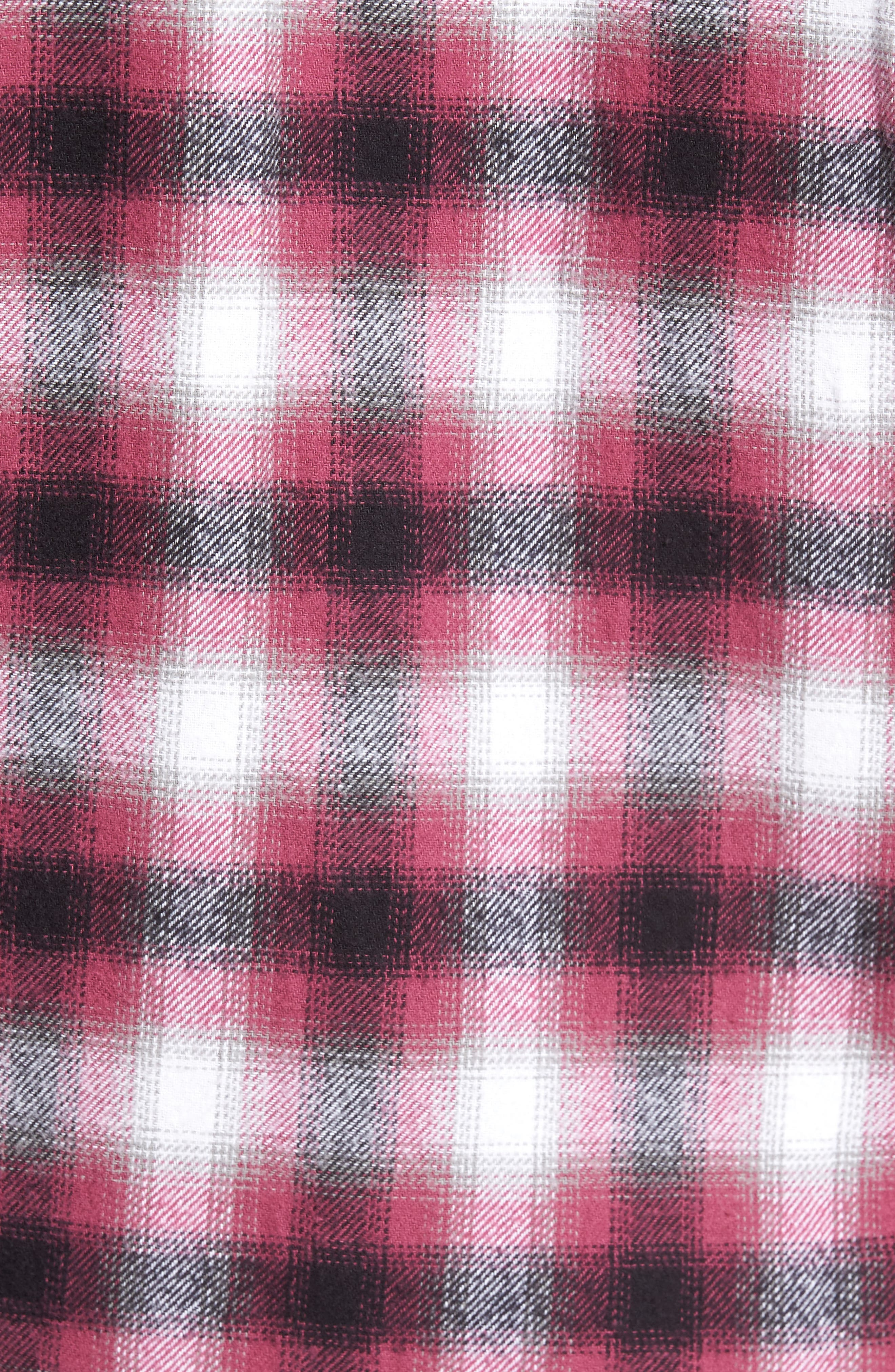 Alternate Image 5  - Obey Mission Plaid Flannel Sport Shirt