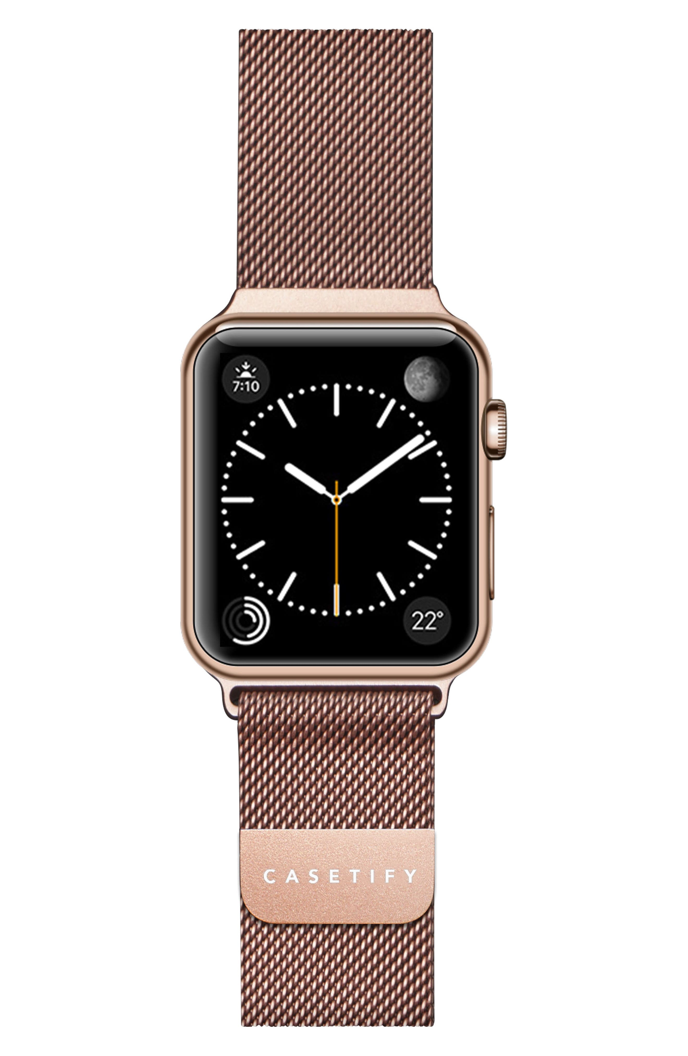 Mesh Apple Watch Strap, 38mm,                             Main thumbnail 1, color,                             Rose Gold