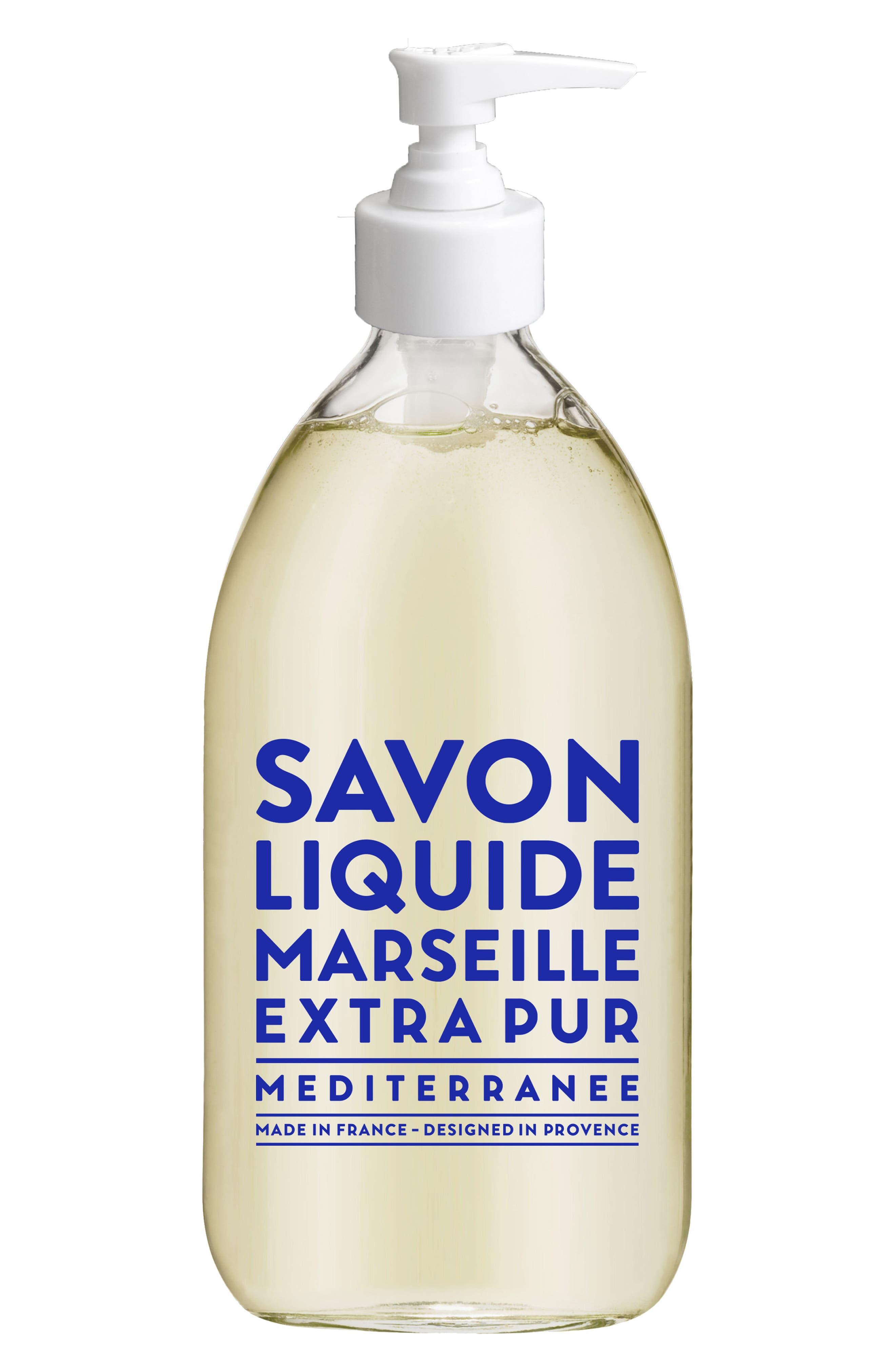Mediterranean Sea Liquid Marseille Soap,                             Main thumbnail 1, color,                             No Color