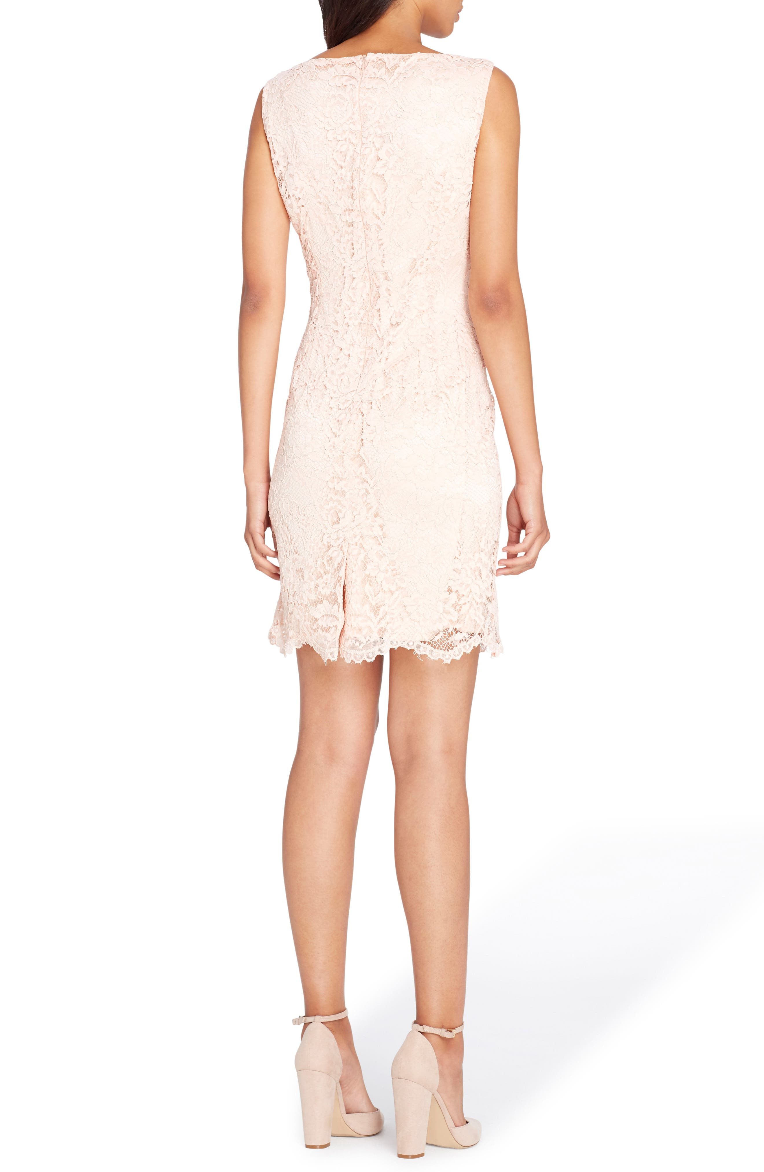 Alternate Image 2  - Tahari Lace Sheath Dress
