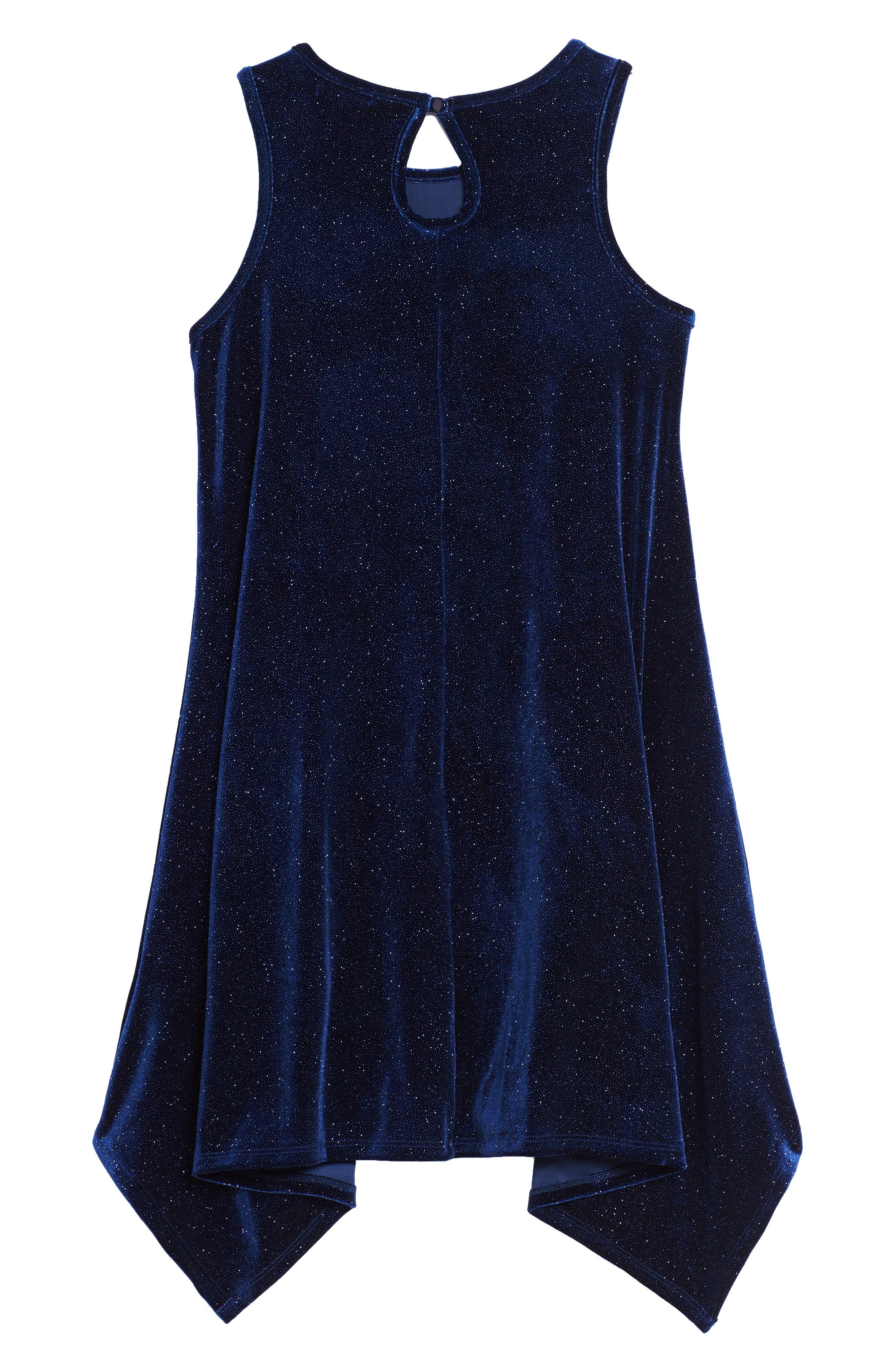 Alternate Image 2  - Zunie Shimmer Sharkbite Dress (Big Girls)