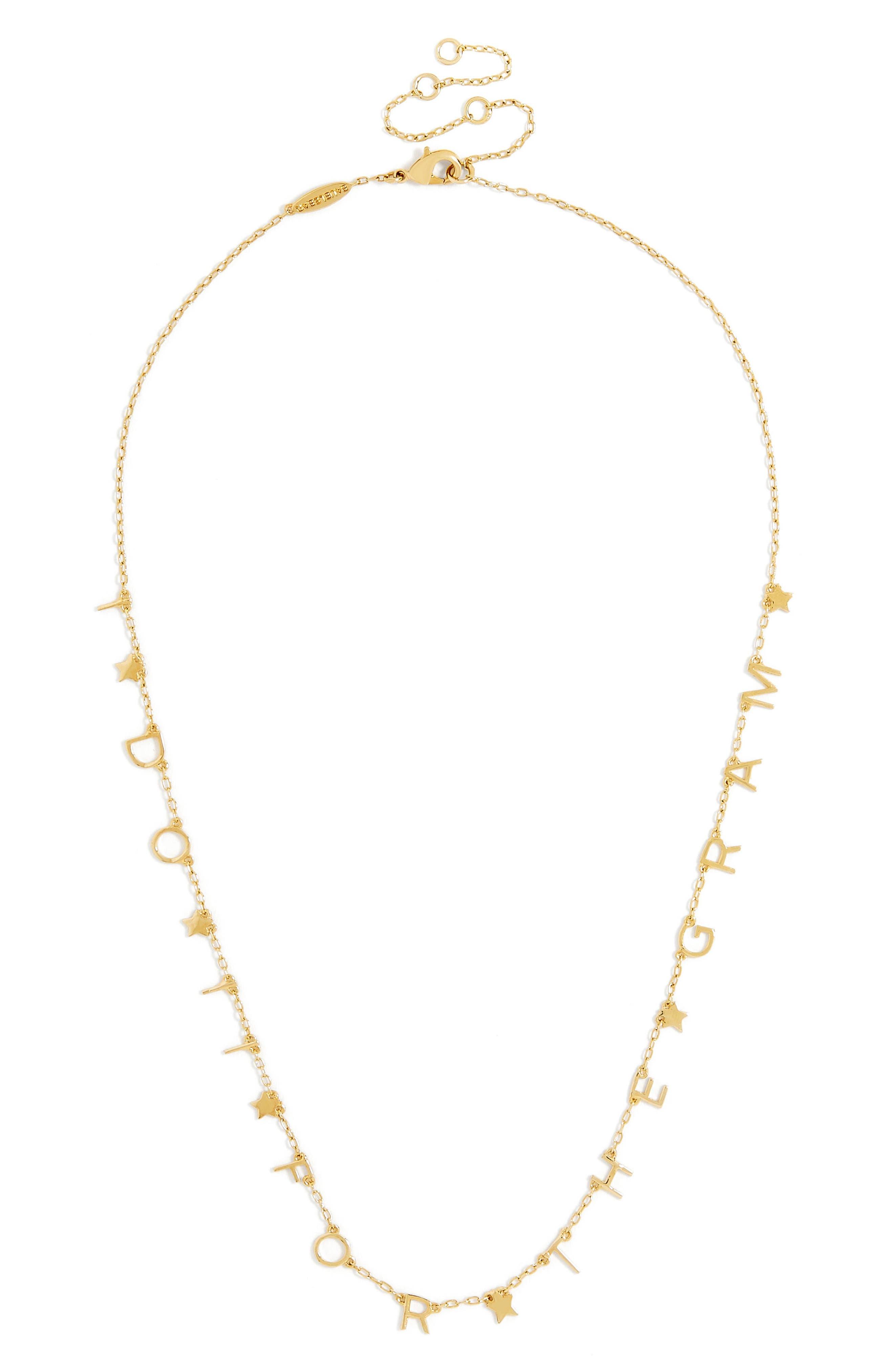 Main Image - BaubleBar Hashtag Truth Everyday Fine Necklace