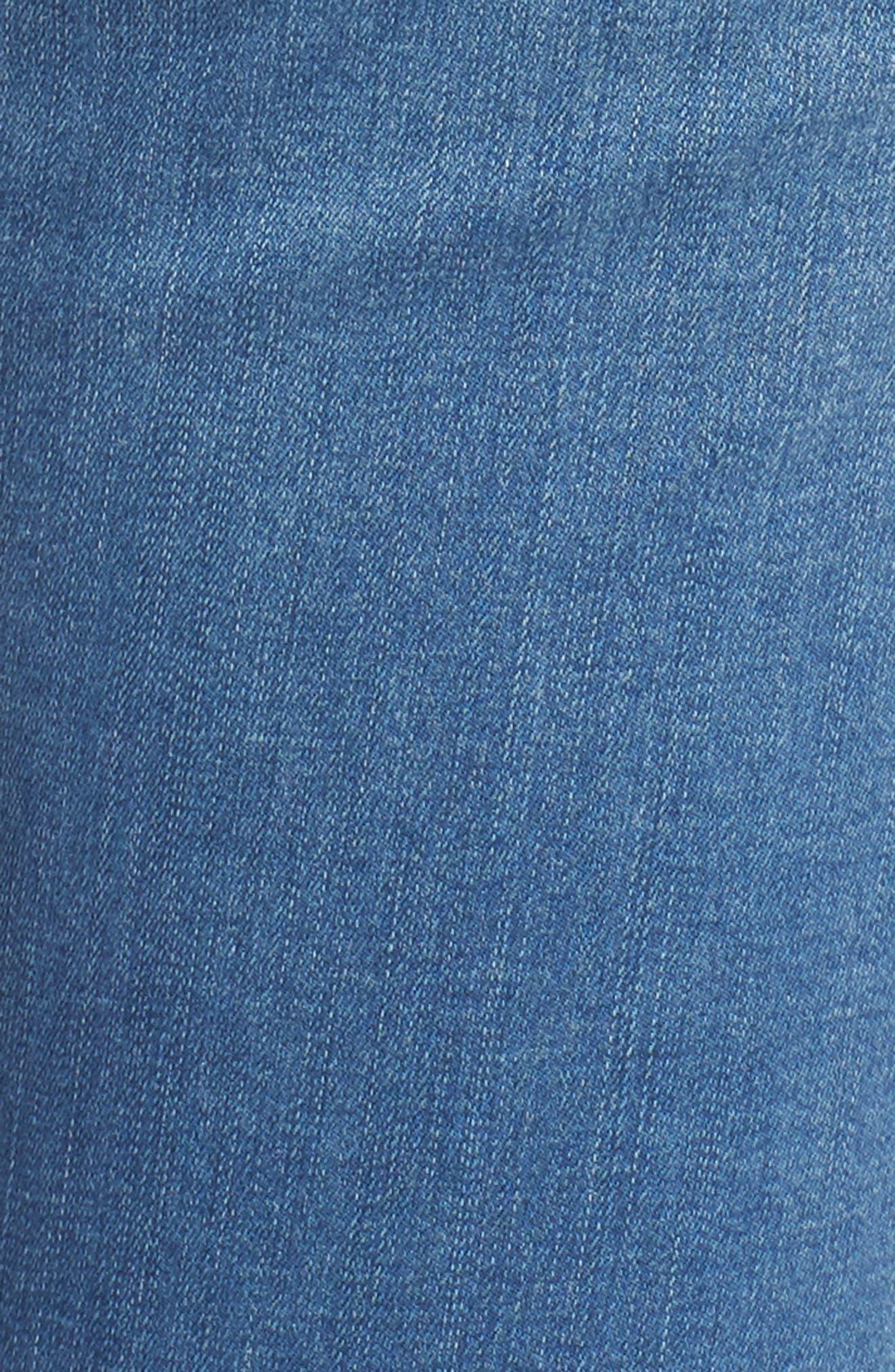 Leigh Skinny Jeans,                             Alternate thumbnail 4, color,                             Mid Denim