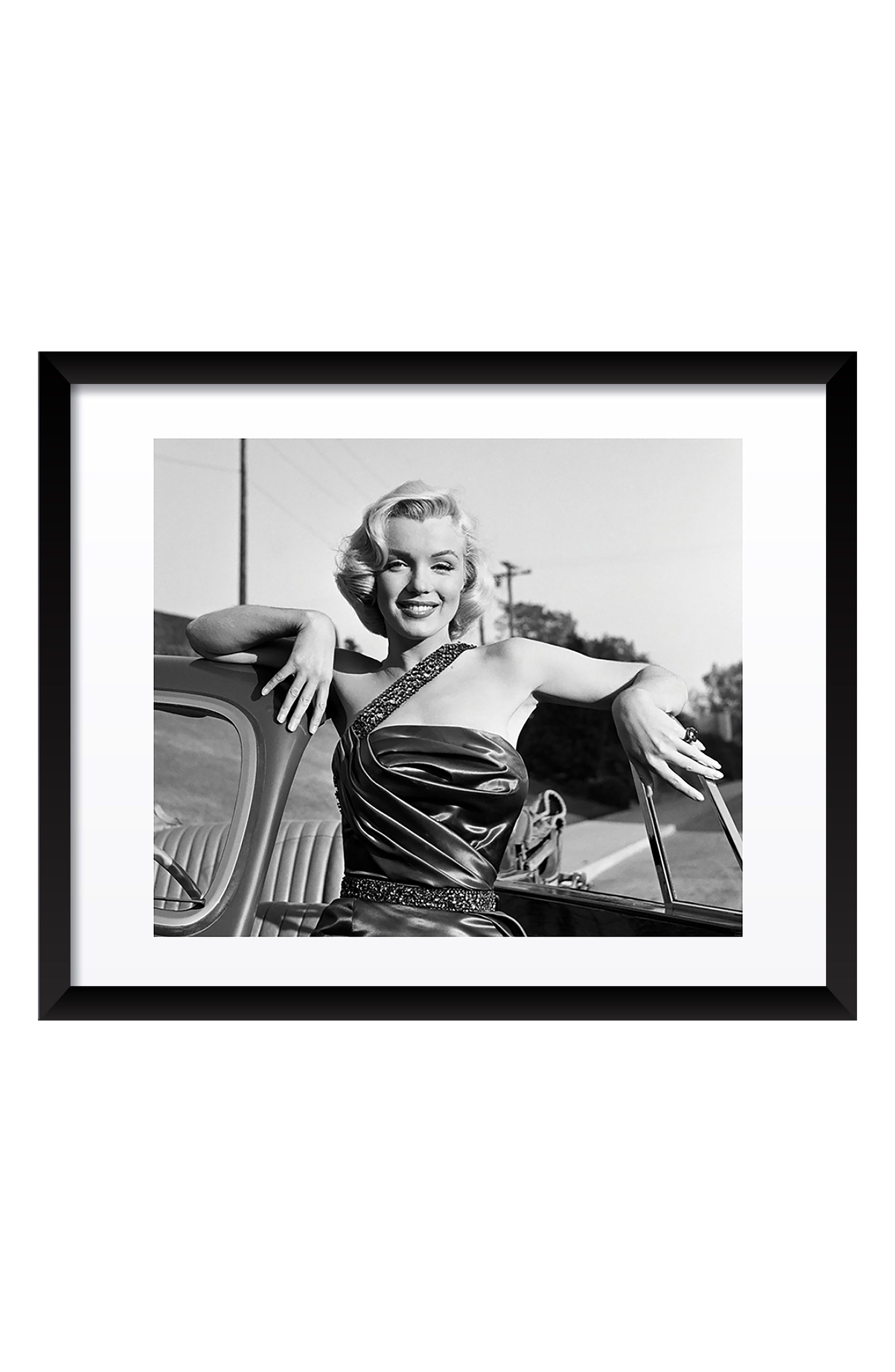 Marilyn Monroe Fine Art Print,                             Main thumbnail 1, color,                             Black