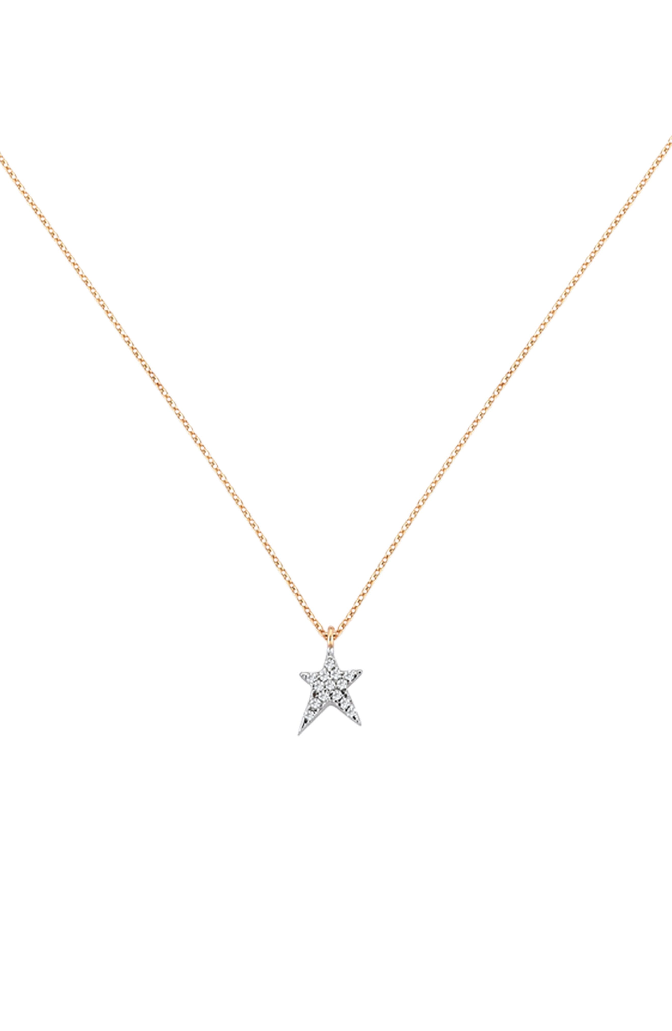 Alternate Image 1 Selected - Kismet by Milka Diamond Star Pendant Necklace