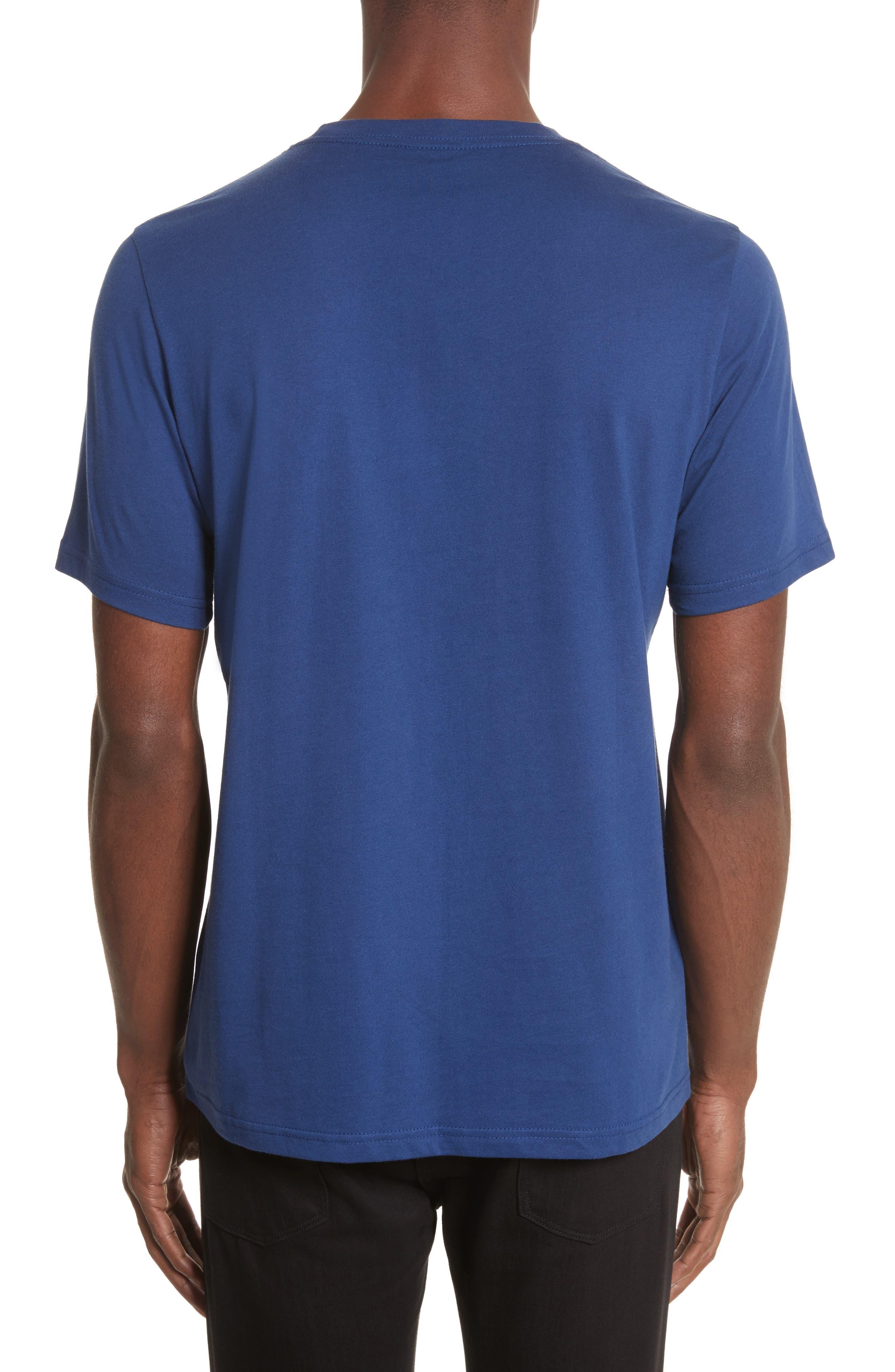 Zebra Logo T-Shirt,                             Alternate thumbnail 2, color,                             Blue