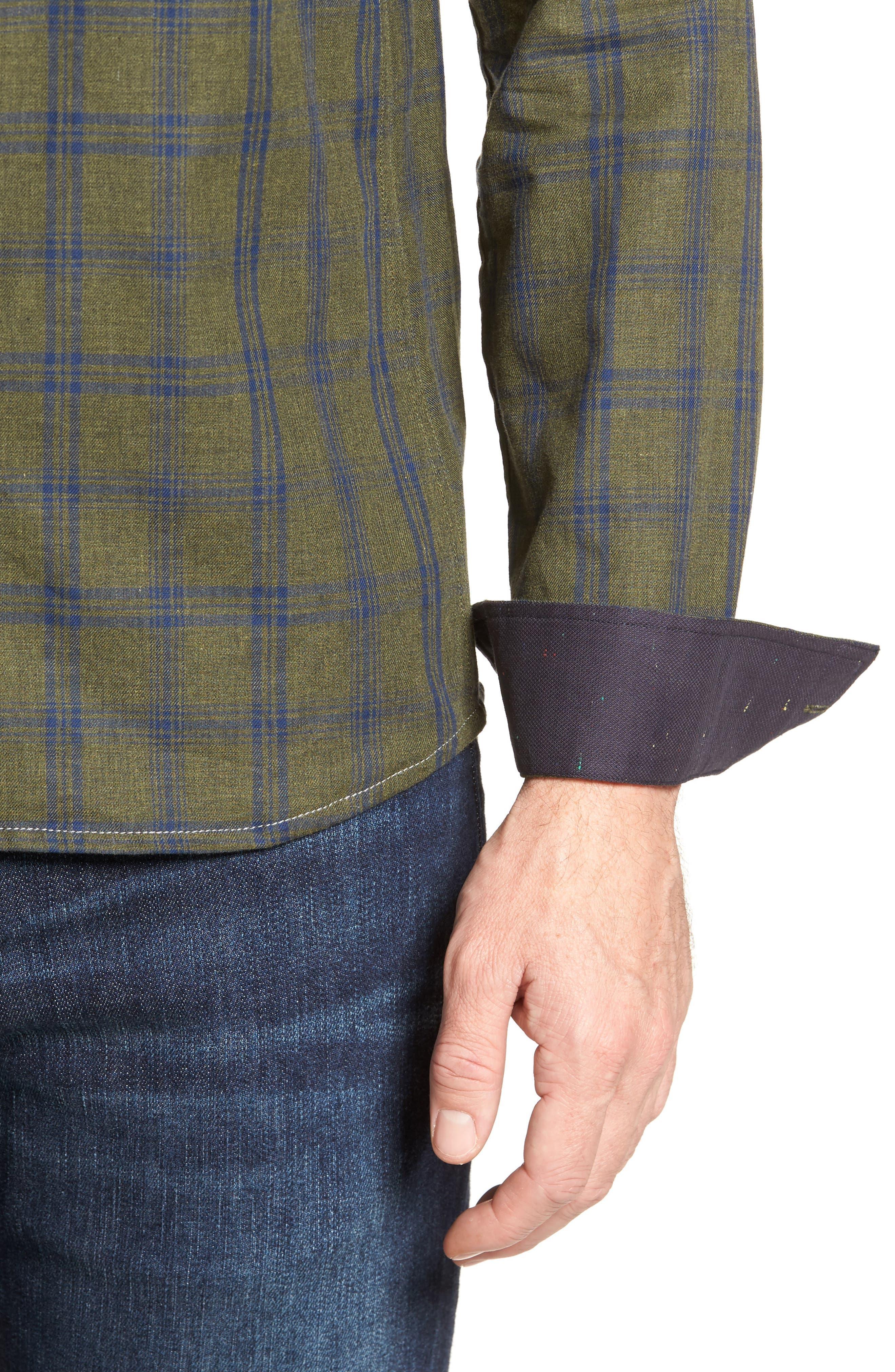 Alternate Image 4  - Descendant of Thieves Vintage Army Plaid Sport Shirt