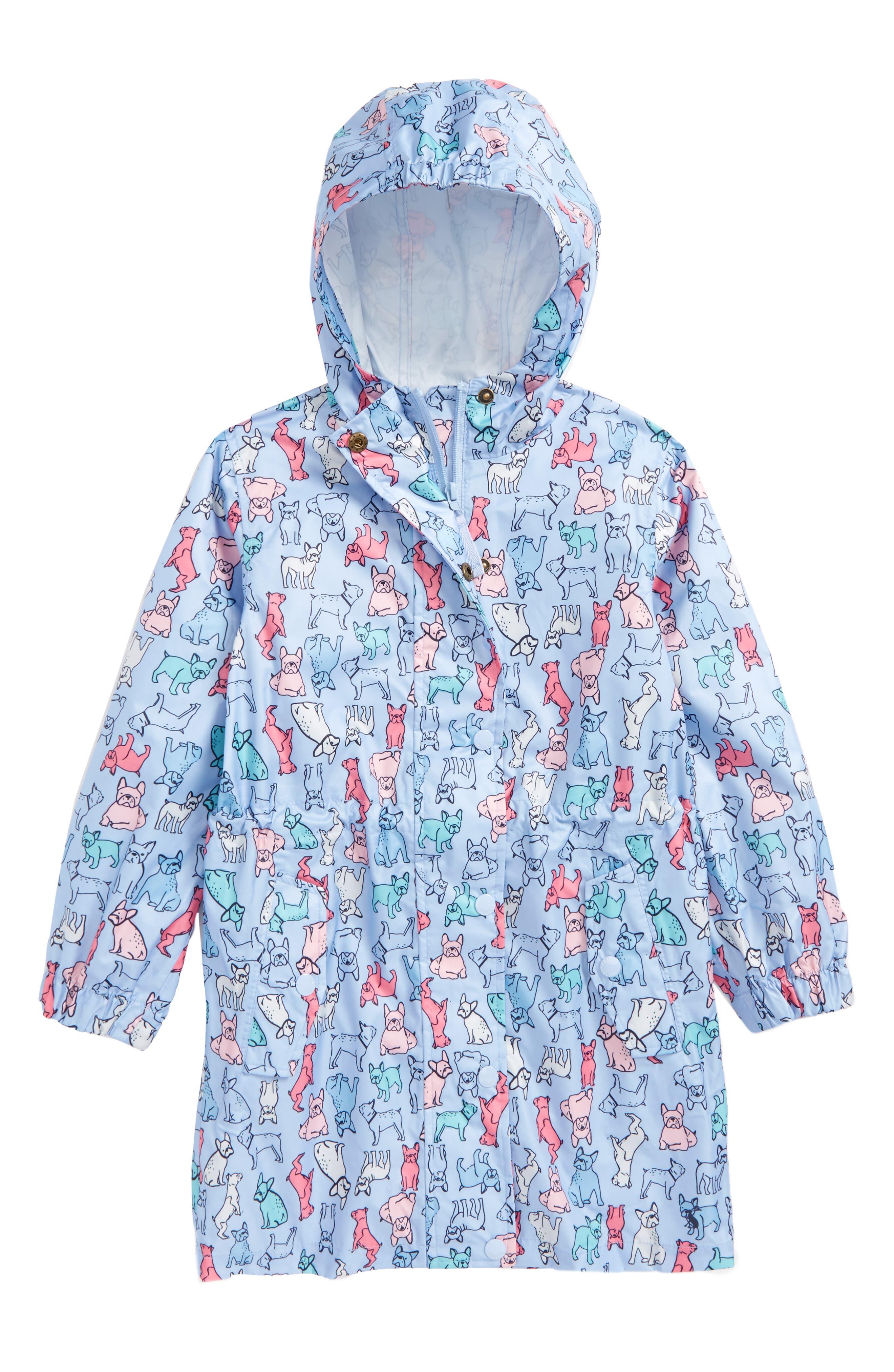 Joules Print Packaway Rain Coat (Toddler Girls, Little Girls & Big Girls)