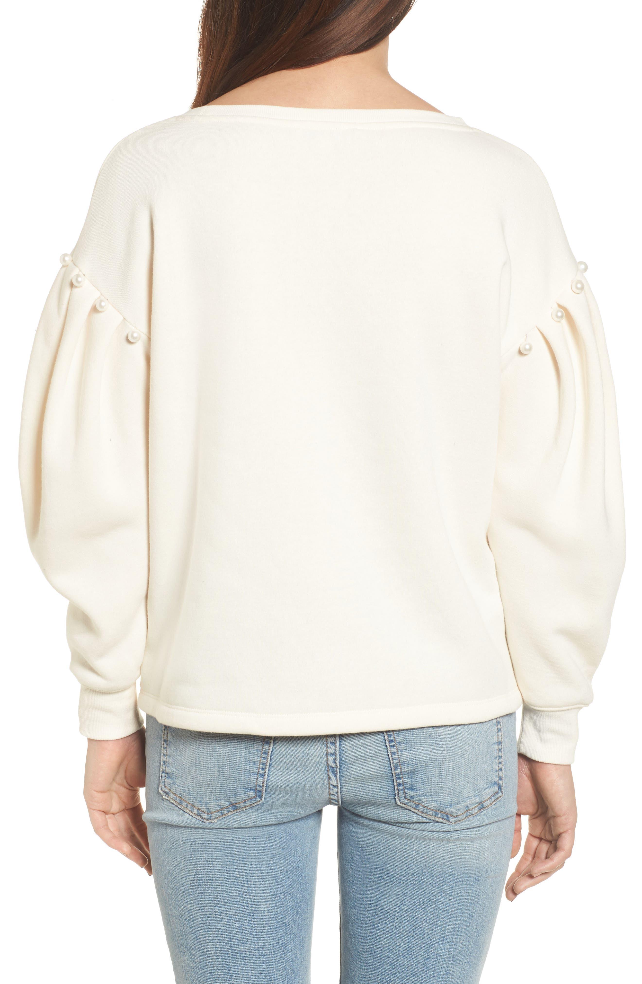 Ellison Sweatshirt,                             Alternate thumbnail 2, color,                             Off White
