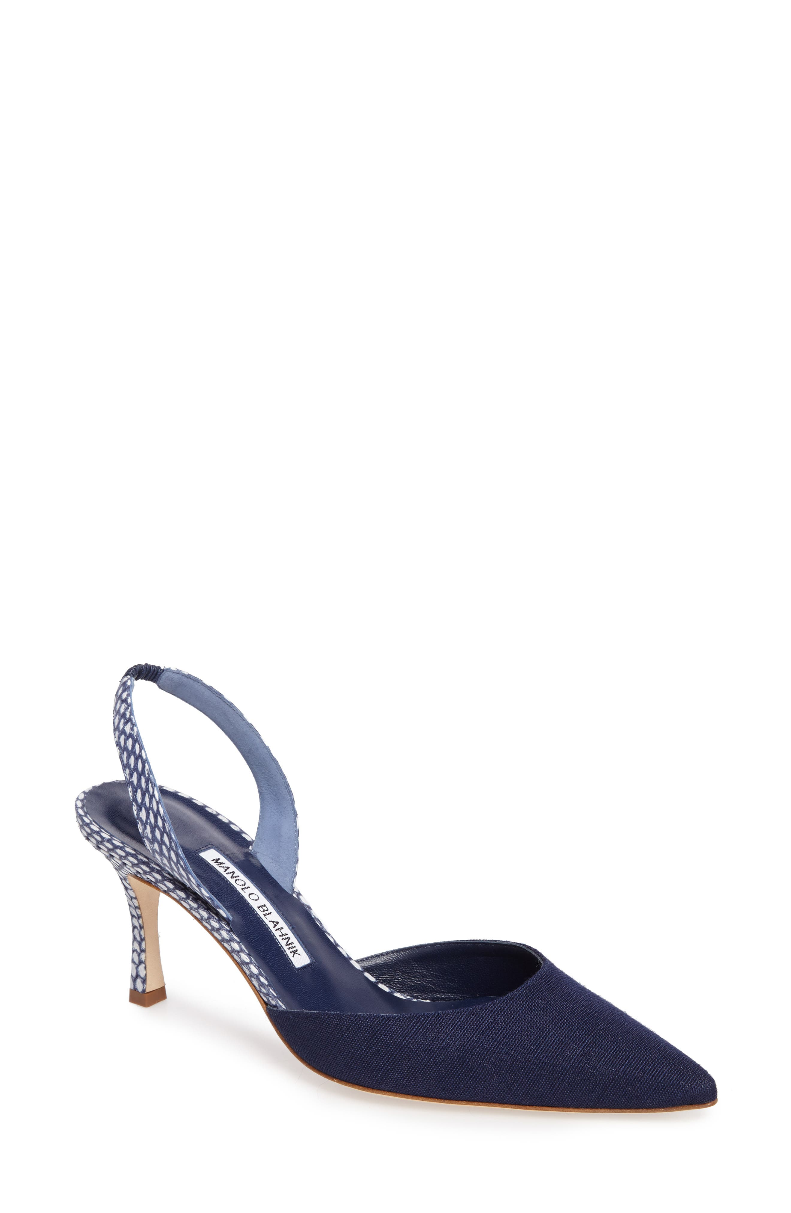 Carolyne Slingback Pump,                         Main,                         color, Navy