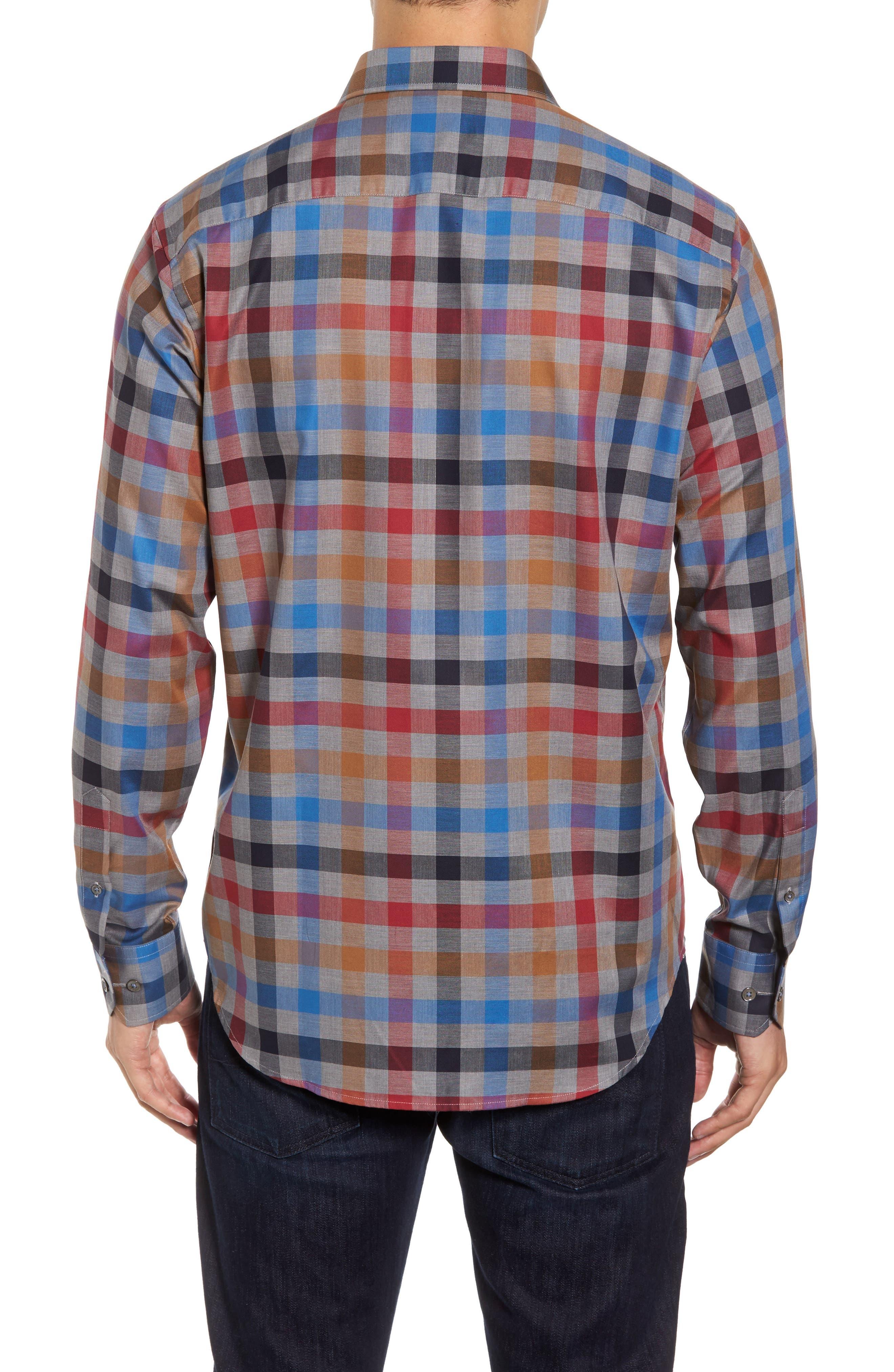Classic Fit Check Sport Shirt,                             Alternate thumbnail 2, color,                             Graphite