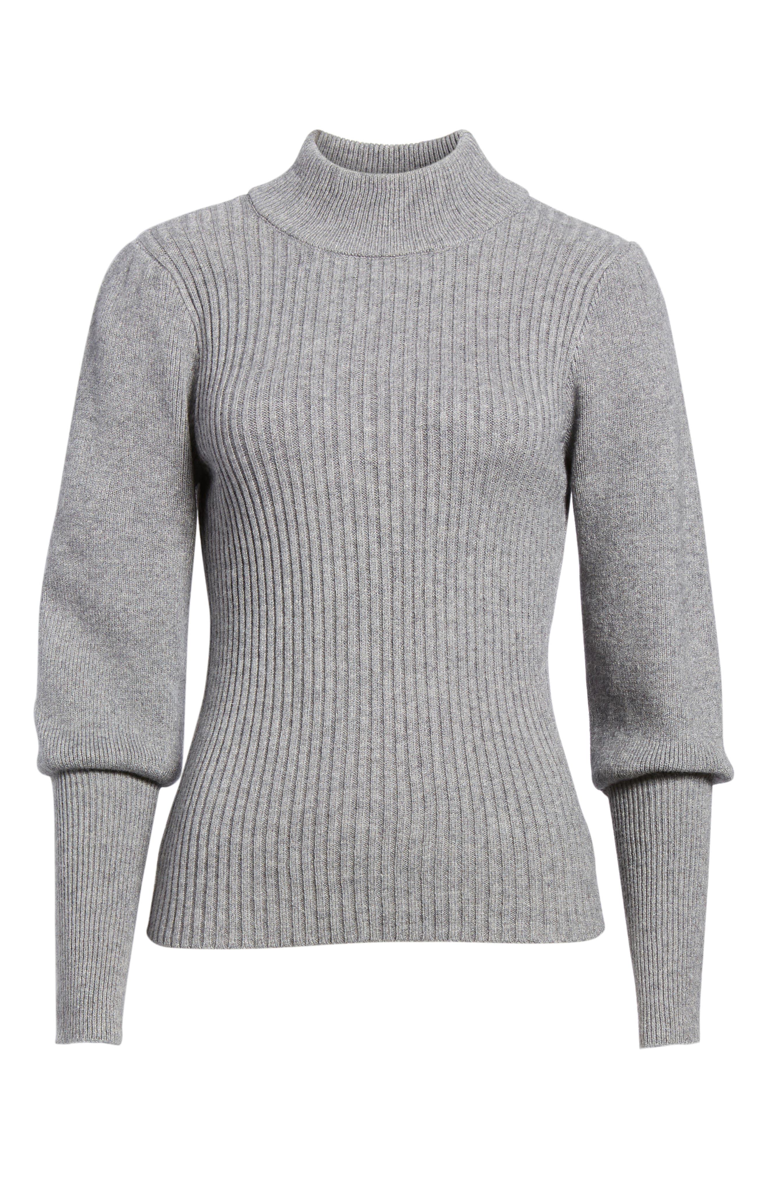 Alternate Image 6  - MOON RIVER Puff Sleeve Sweater