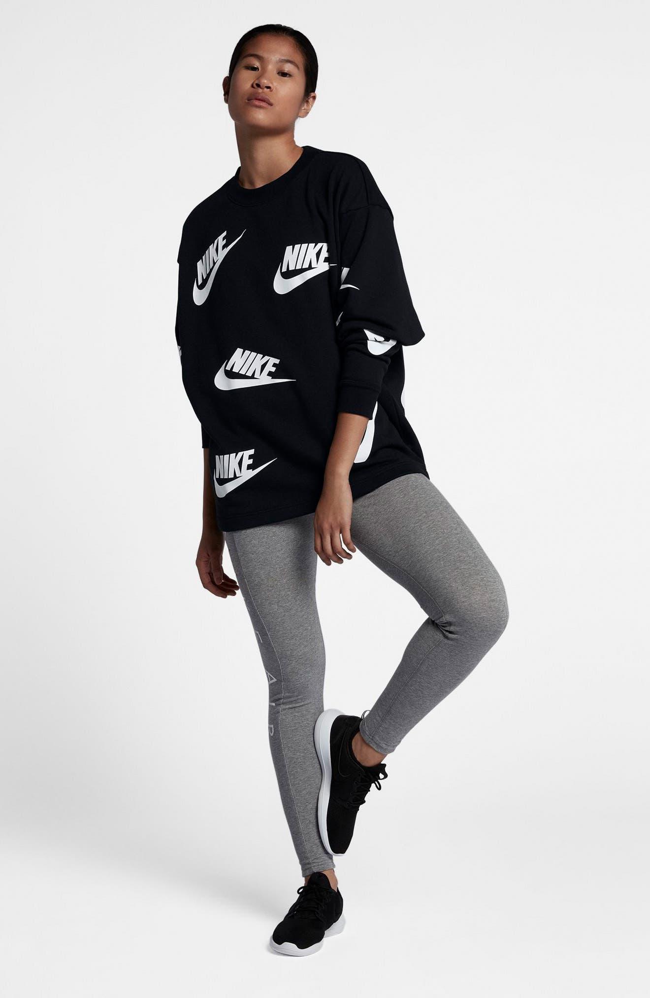 Sportswear Futura Sweatshirt,                             Alternate thumbnail 7, color,                             Black/ White