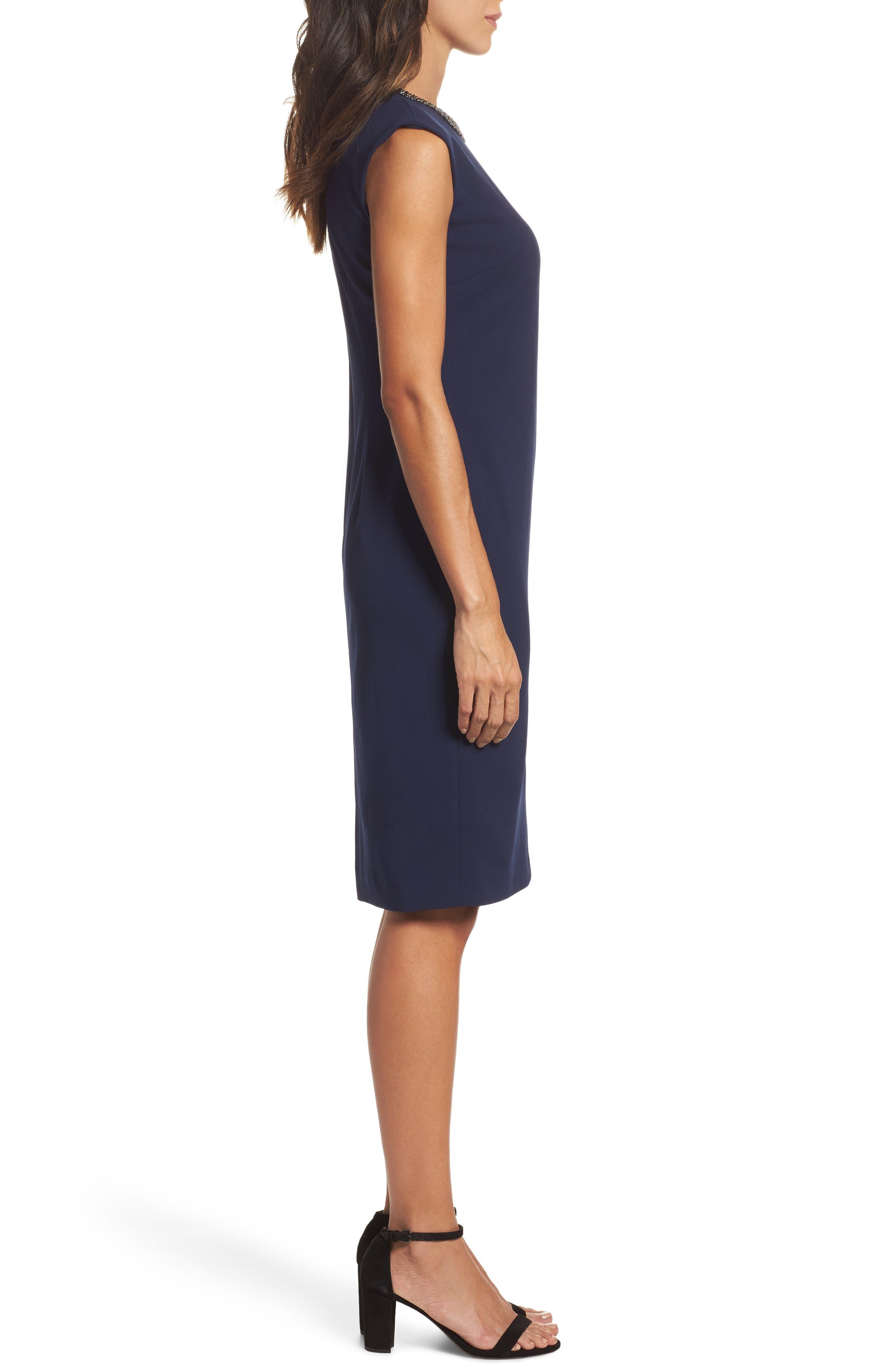 Alternate Image 3  - Chetta B Embellished Sheath Dress