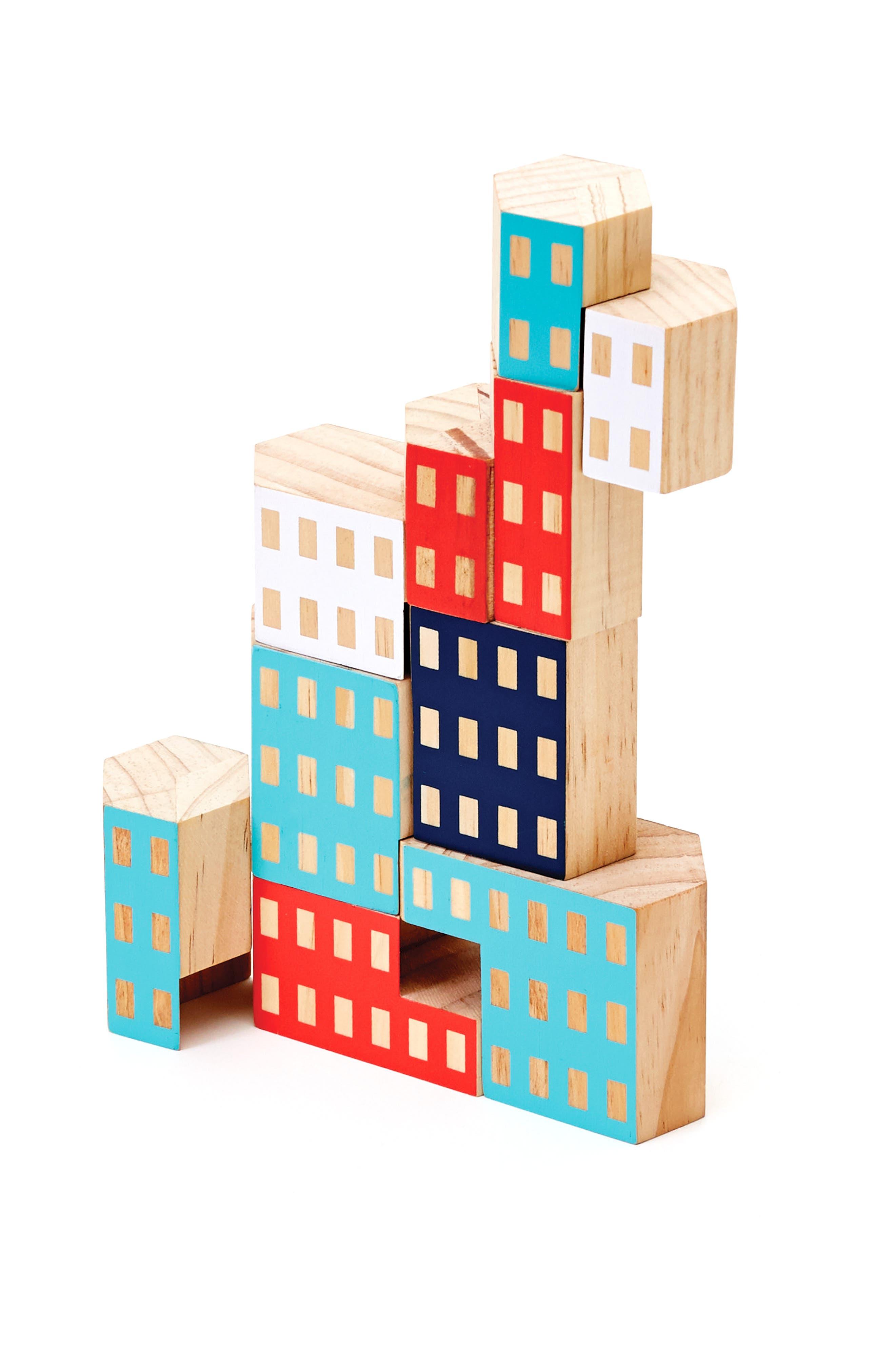 Areaware Blockitecture Habitat 10-Piece Wooden Block Set