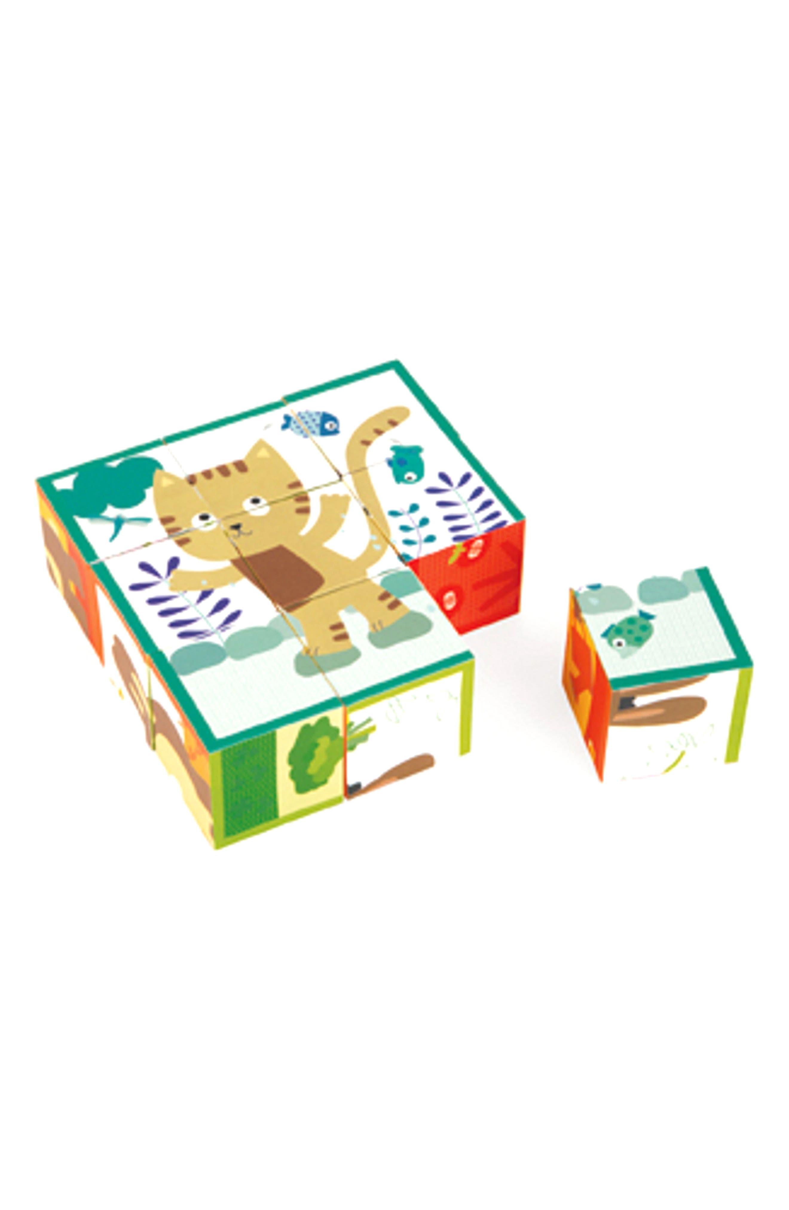 Kubkid Farm Animals Set of 9 Blocks,                         Main,                         color, Multi