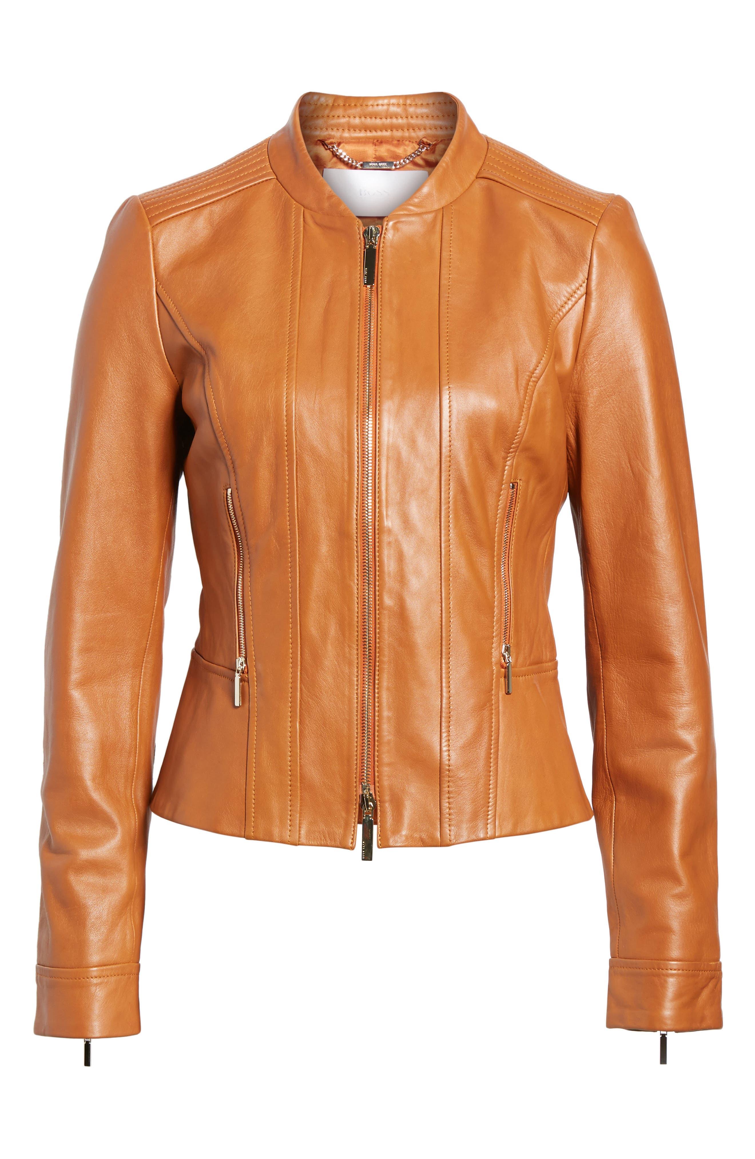 Alternate Image 6  - BOSS Sabiza Leather Jacket