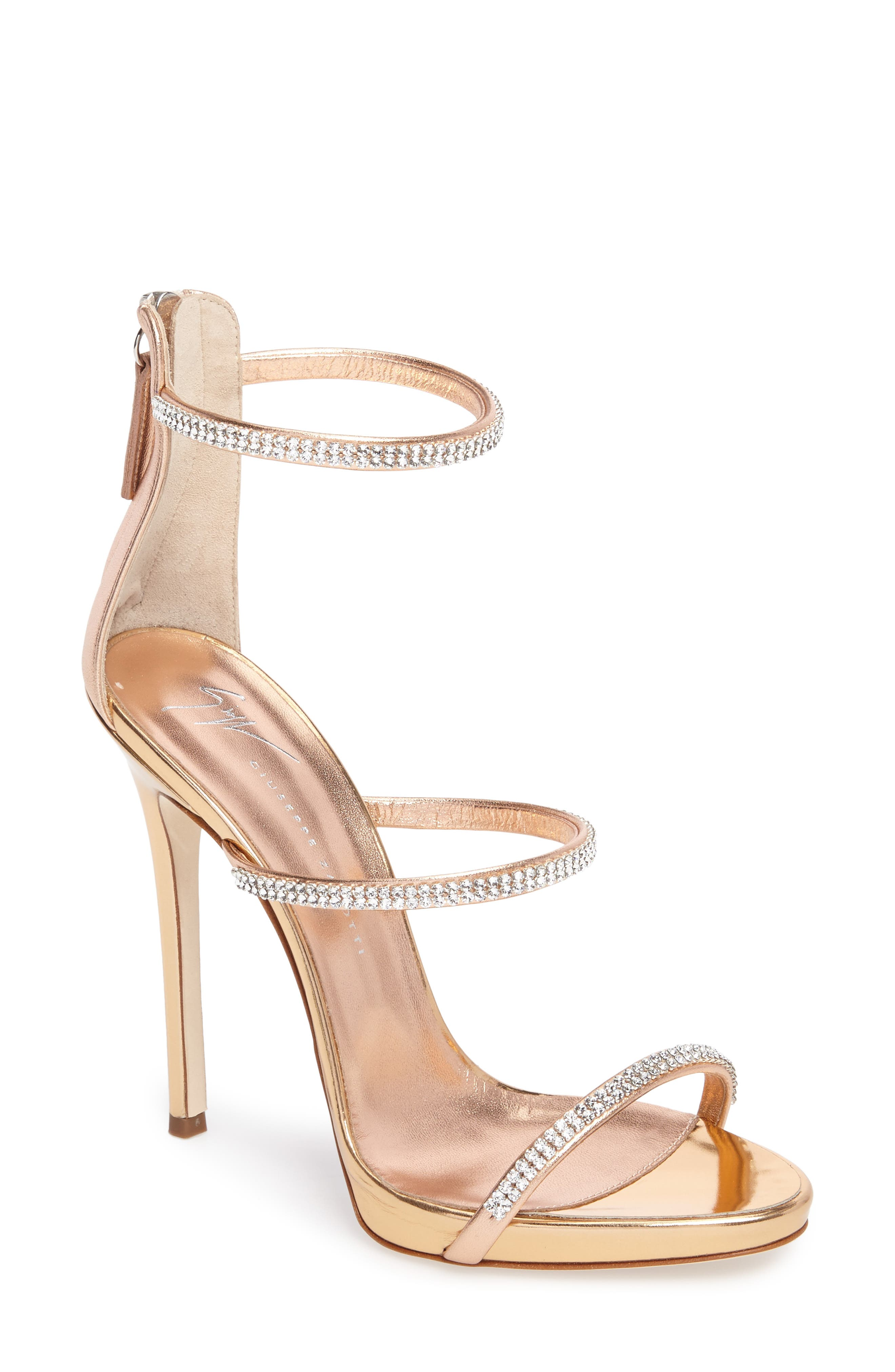 Alternate Image 1 Selected - Giuseppe Zanotti Coline Crystal Sandal (Women)