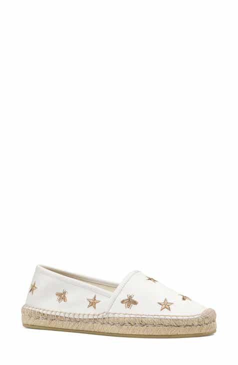 Gucci Pilar Bee Embroidery Espadrille (Women)