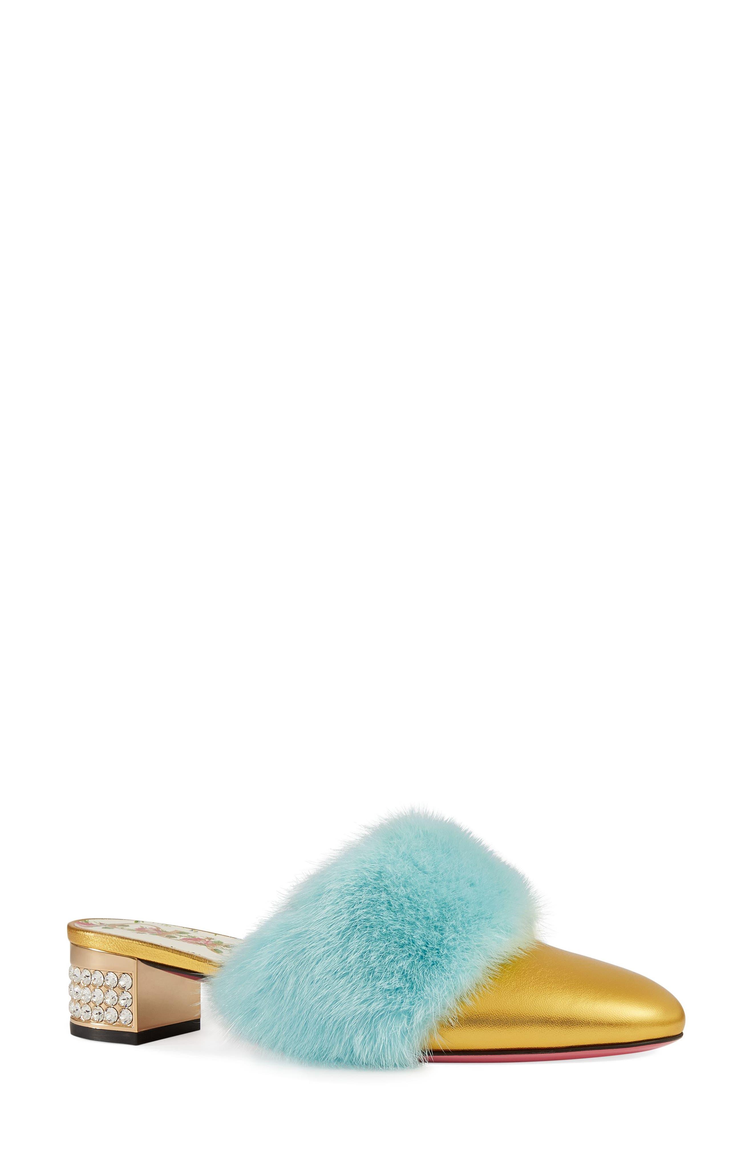Gucci Candy Genuine Mink Fur Mule (Women)