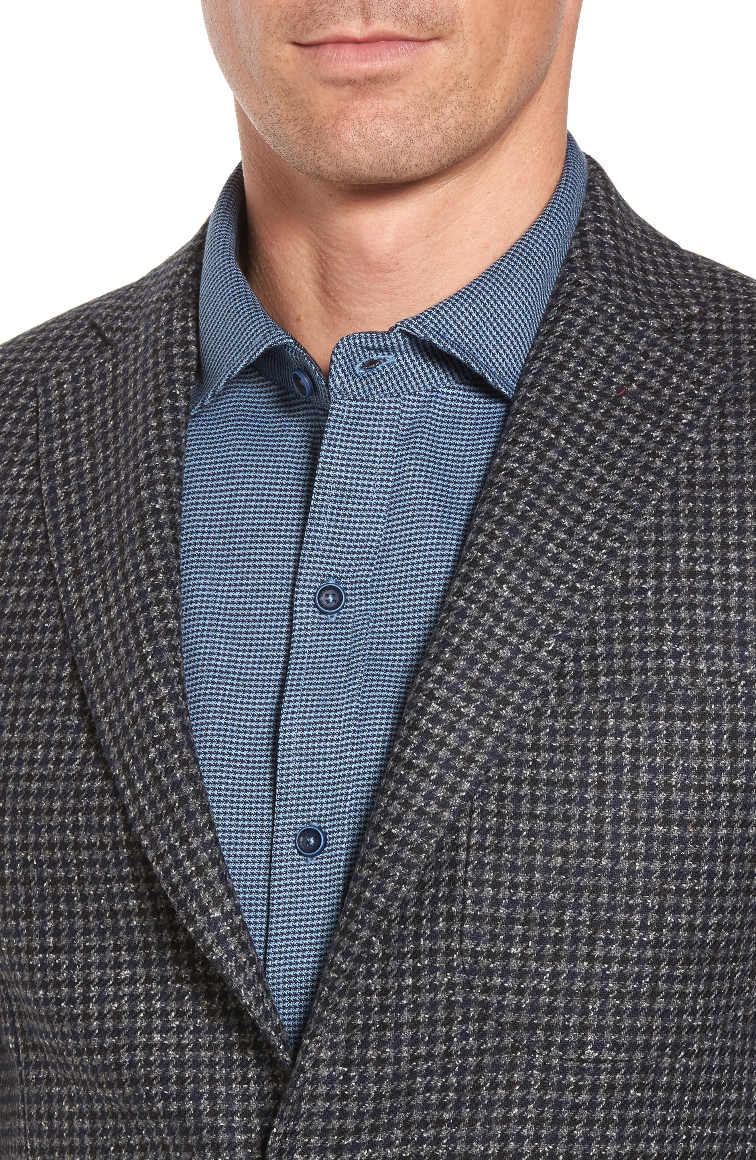 Alternate Image 4  - Bugatchi Wool Blend Houndstooth Blazer