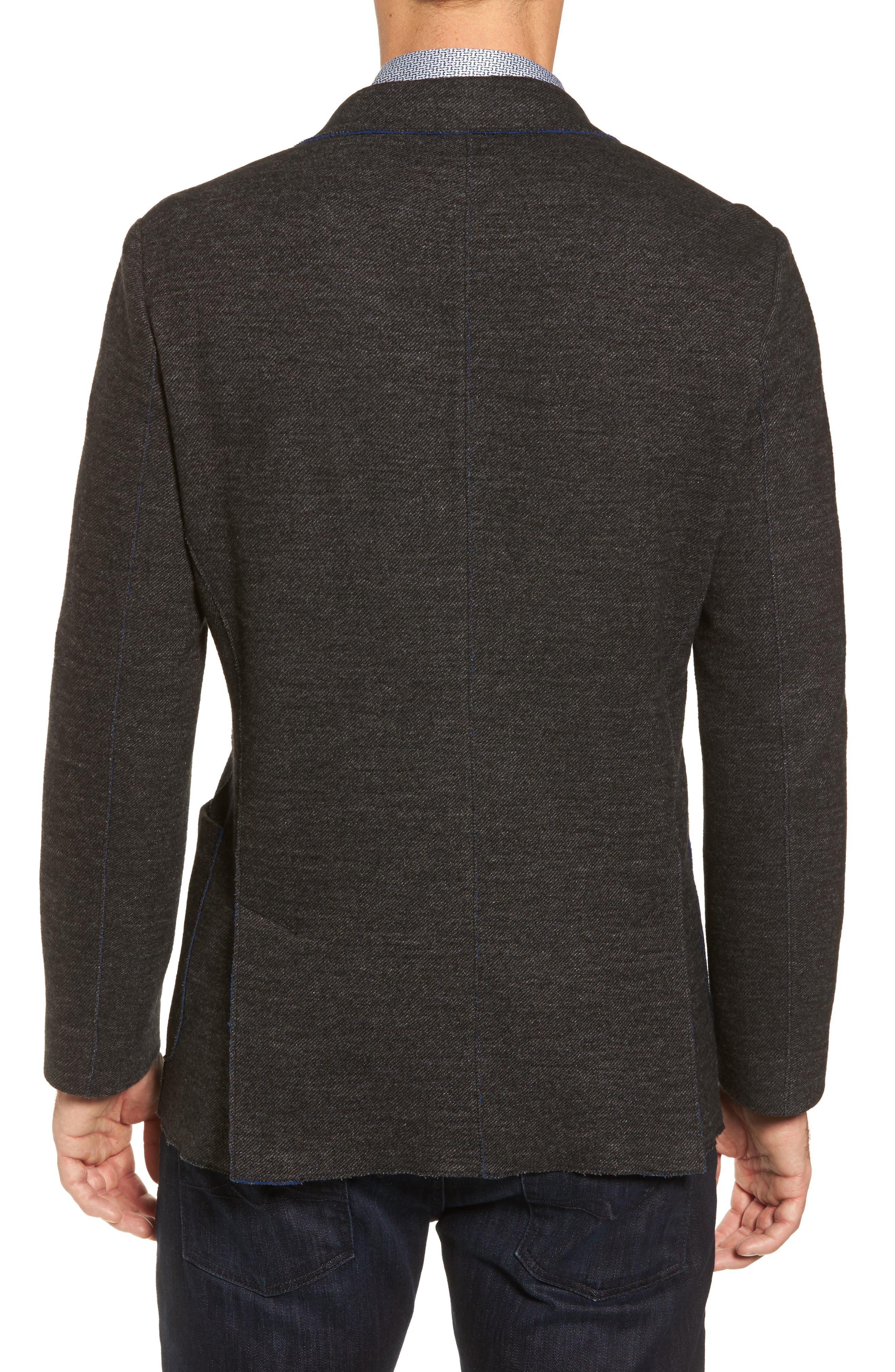 Alternate Image 2  - Bugatchi Raw Edge Cotton Blend Blazer