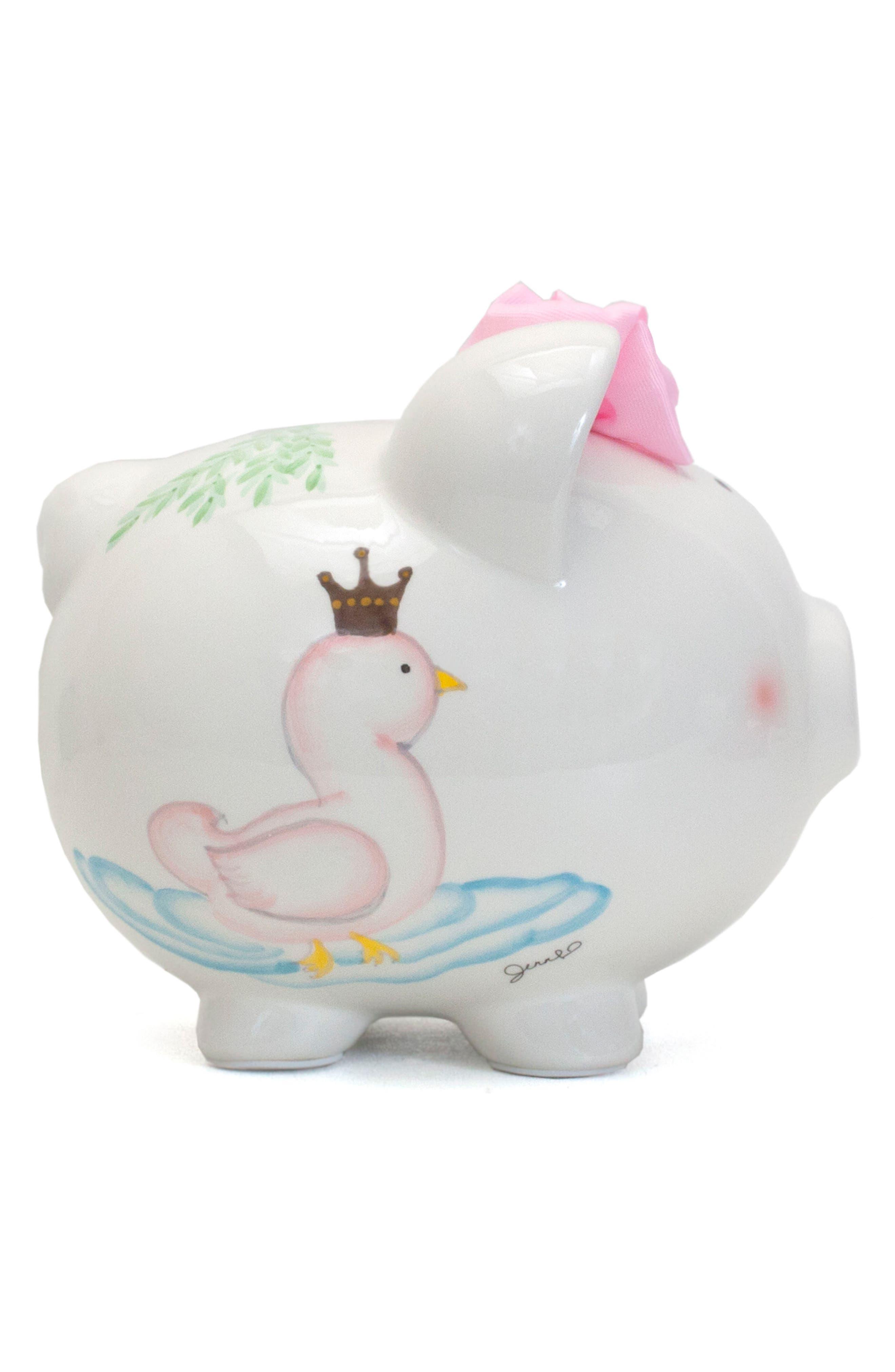 Serena the Swan Pig Bank,                             Alternate thumbnail 5, color,                             White