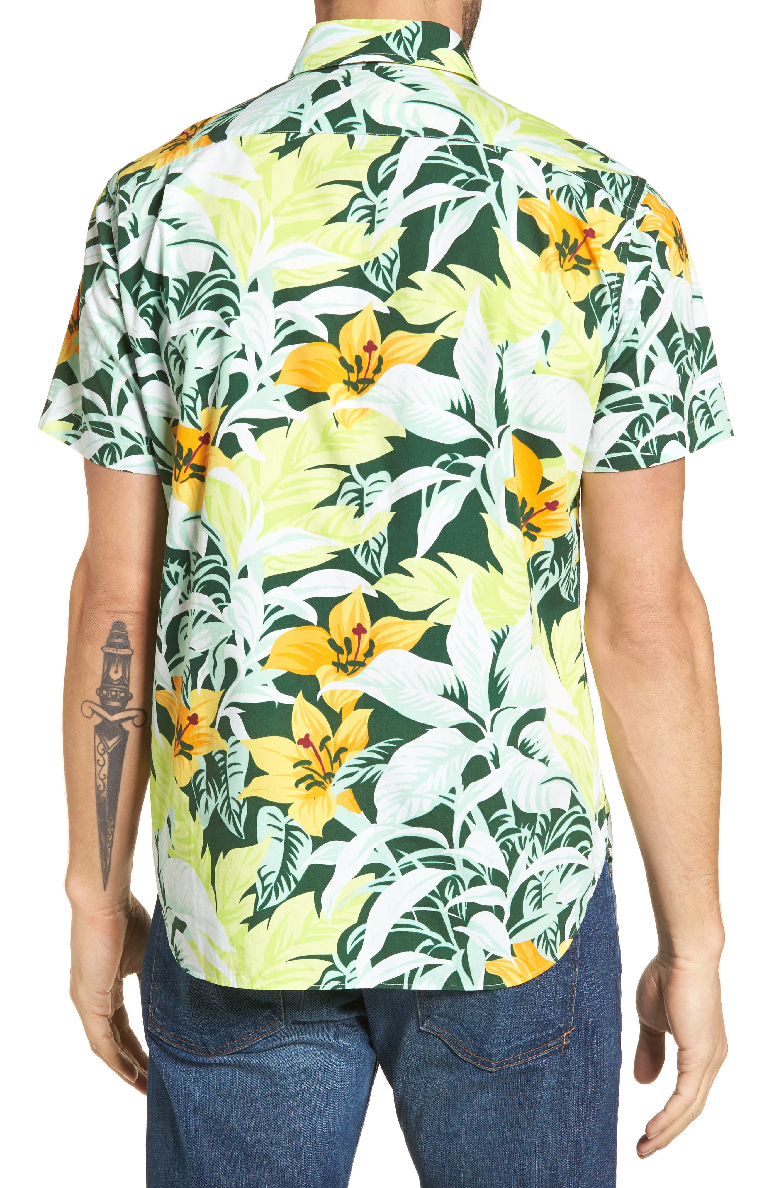 Alternate Image 2  - Bonobos Slim Fit Tropical Sport Shirt