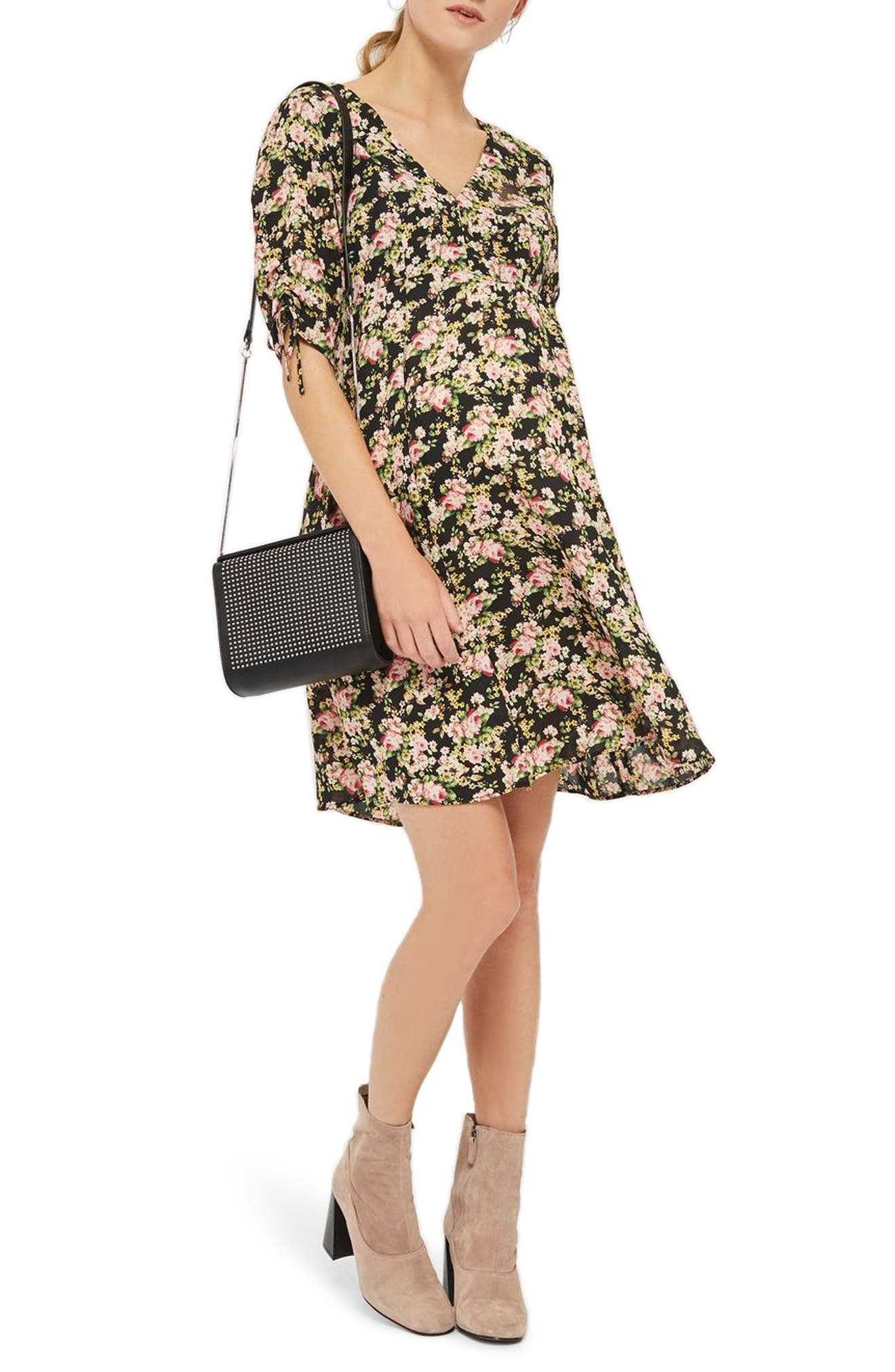 Topshop Romance Floral Maternity Tea Dress