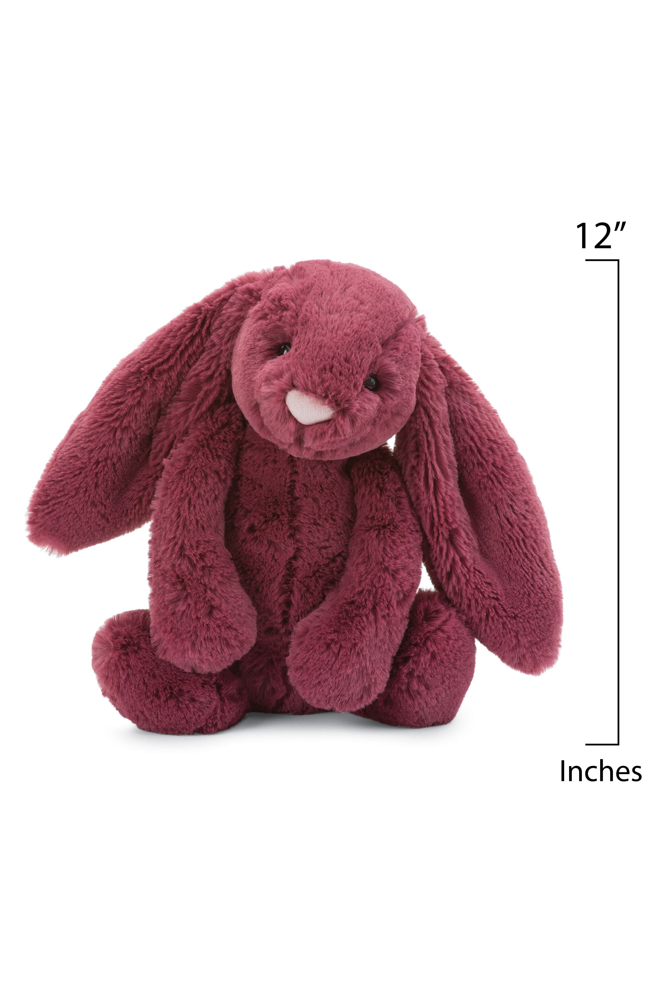 Bashful Berry Bunny Stuffed Animal,                             Alternate thumbnail 2, color,                             Berry