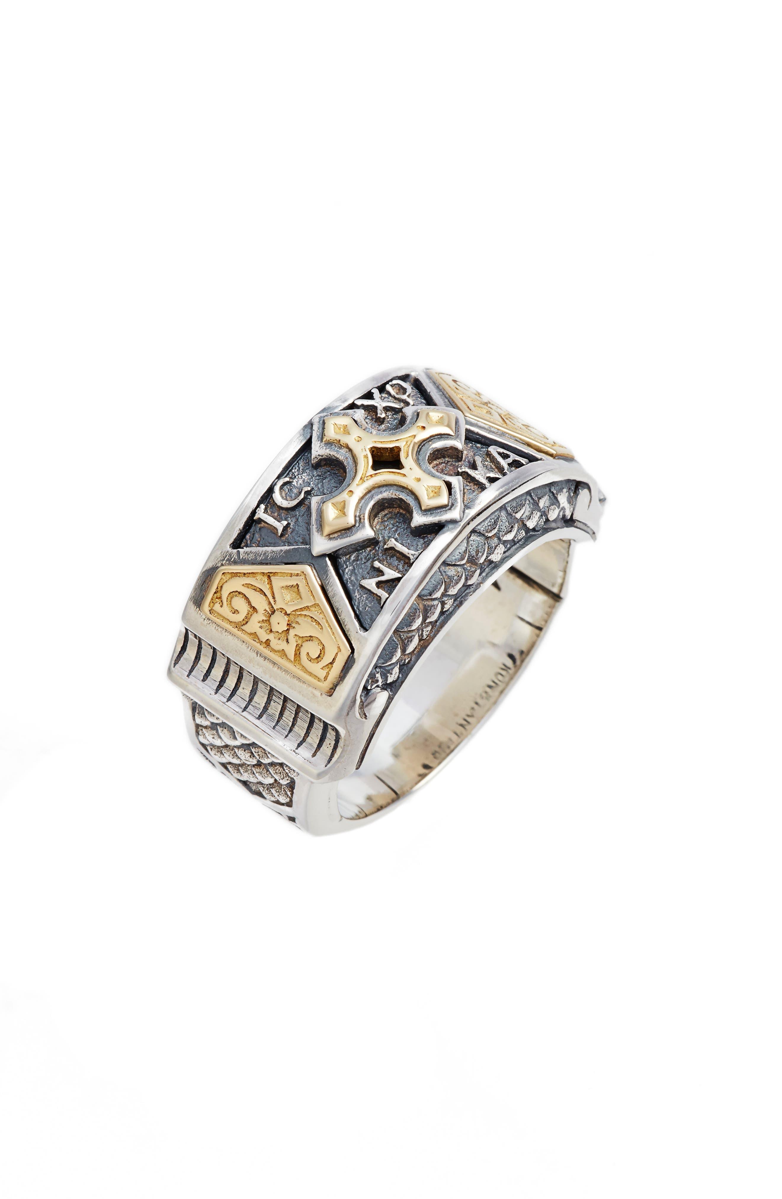Heonos Band Ring,                             Main thumbnail 1, color,                             Silver/ Gold