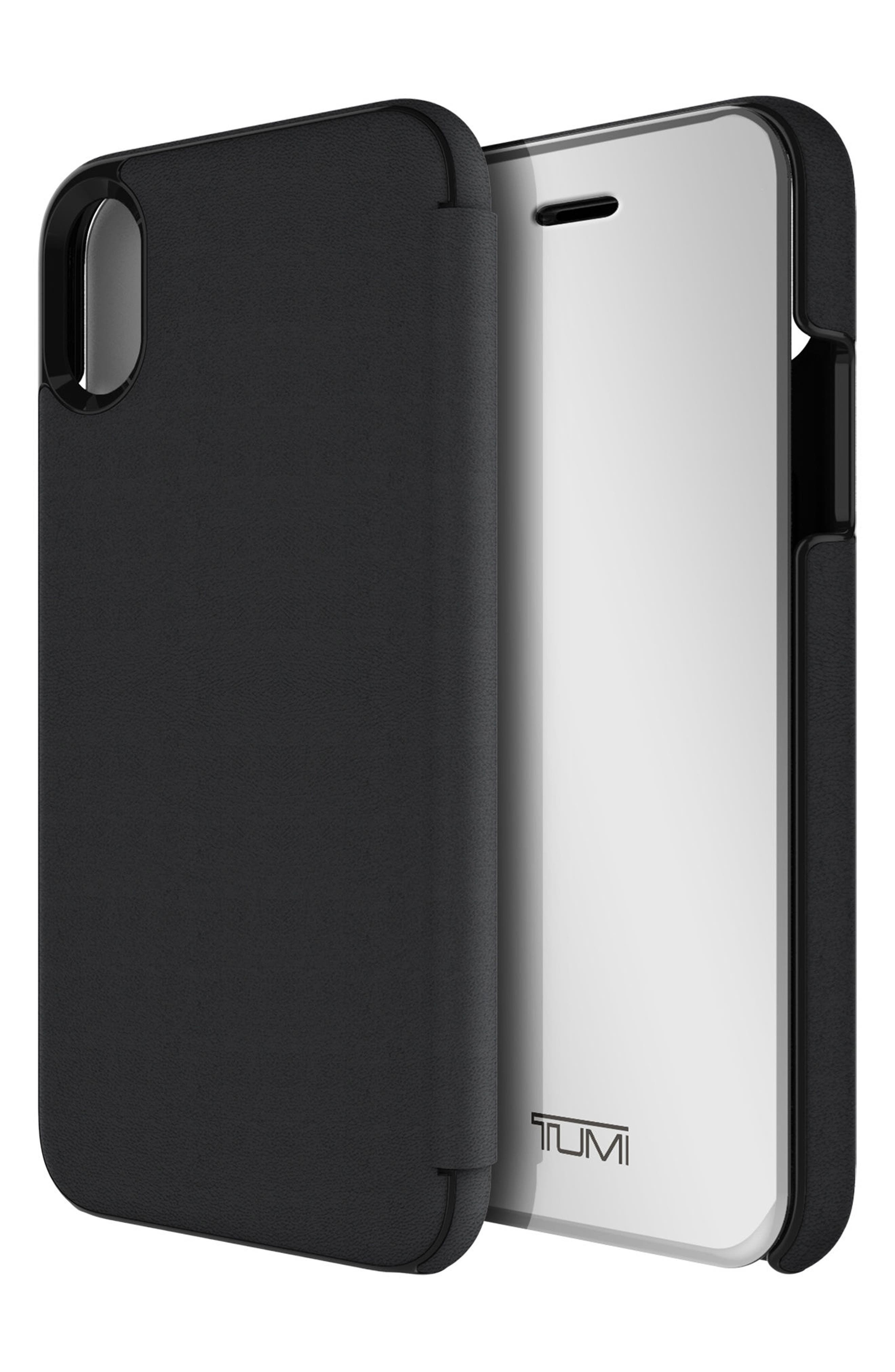 Privacy Folio iPhone X Case,                             Alternate thumbnail 5, color,                             Black Gunmetal