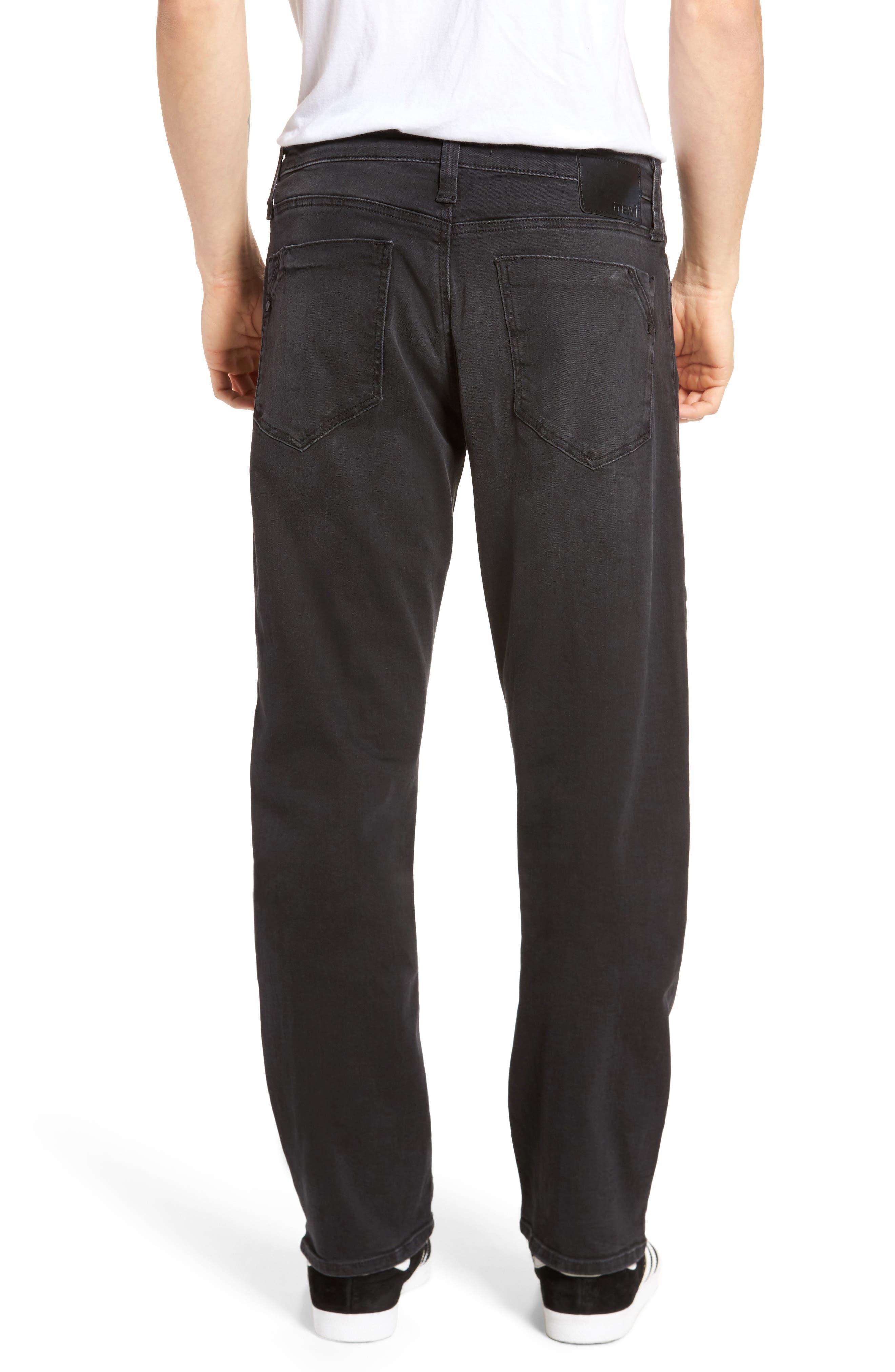 Alternate Image 2  - Mavi Jeans Myles Straight Fit Jeans (Smoke Chelsea)
