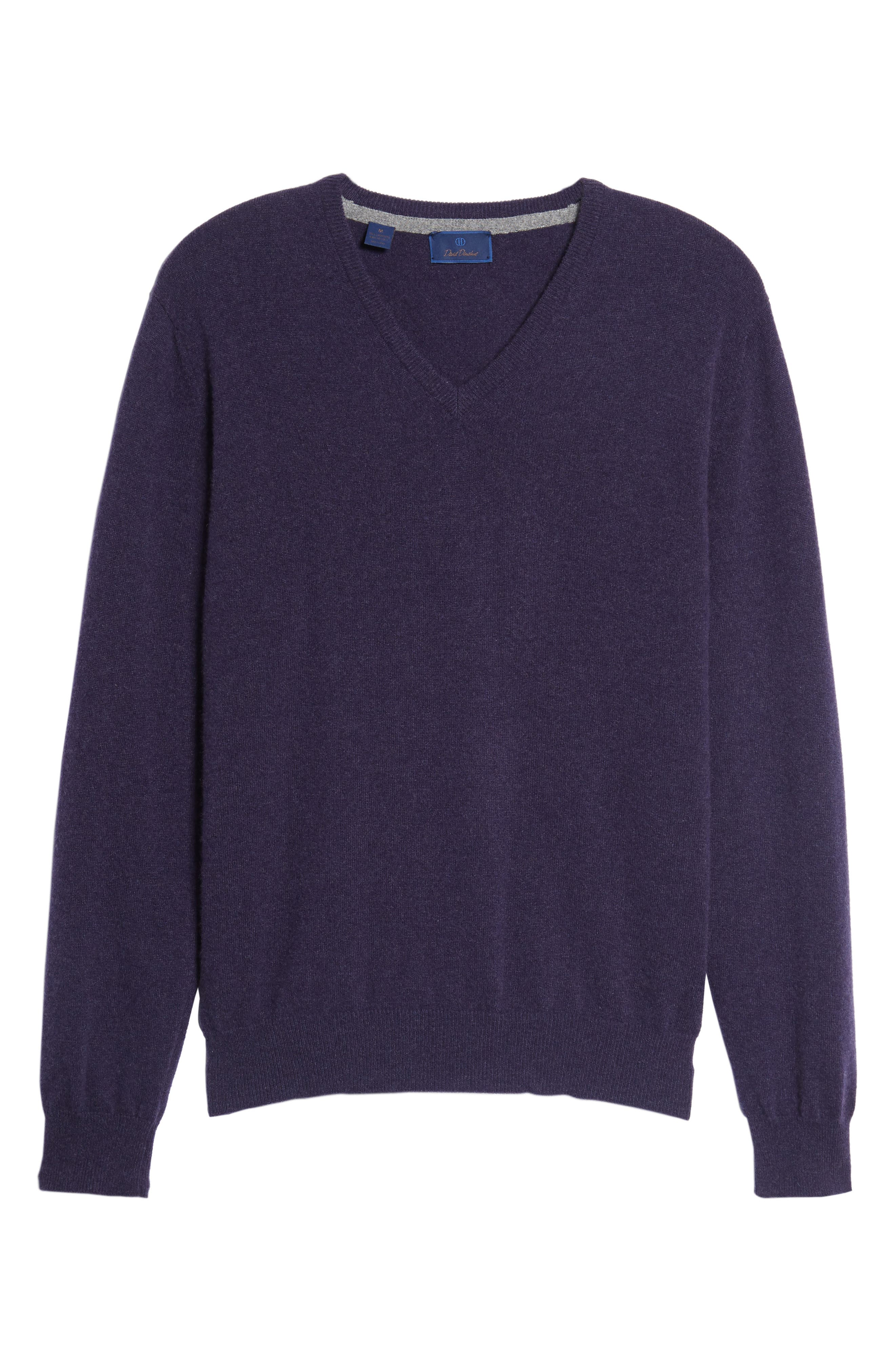 Alternate Image 6  - David Donahue Cashmere V-Neck Sweater