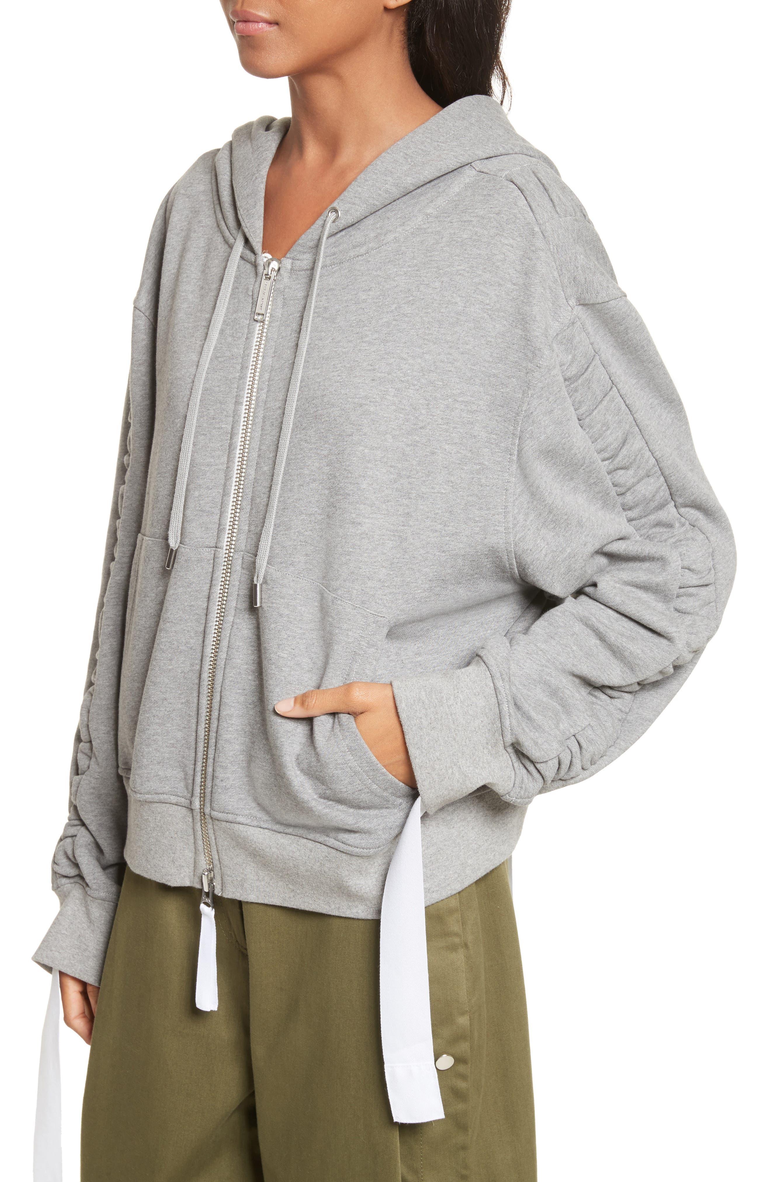 Ashlei Cotton Hoodie,                             Alternate thumbnail 5, color,                             Melange Grey