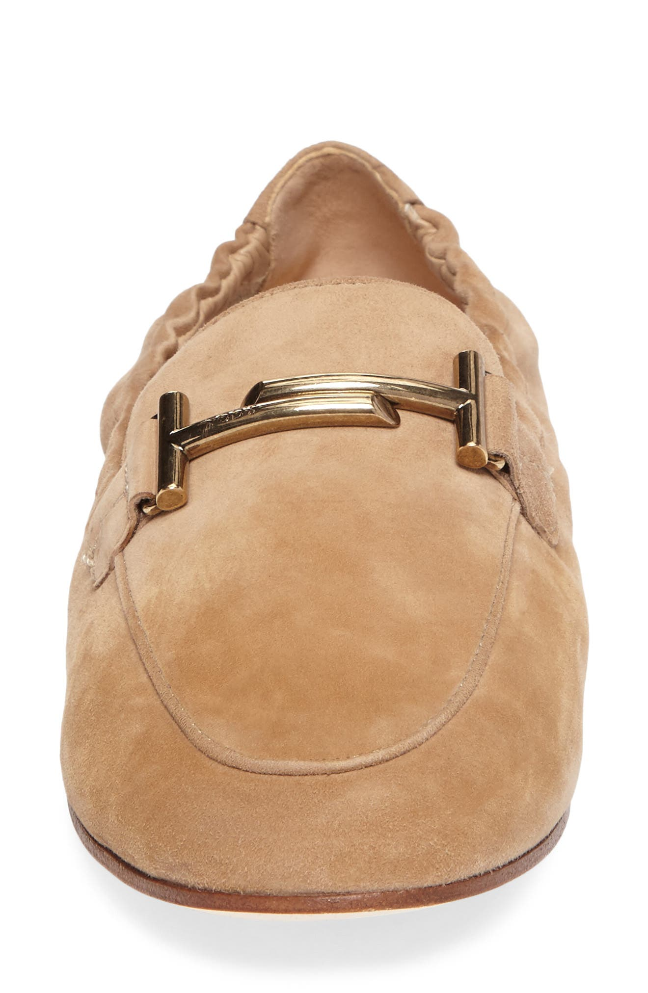 Double T Scrunch Loafer,                             Alternate thumbnail 4, color,                             Tan